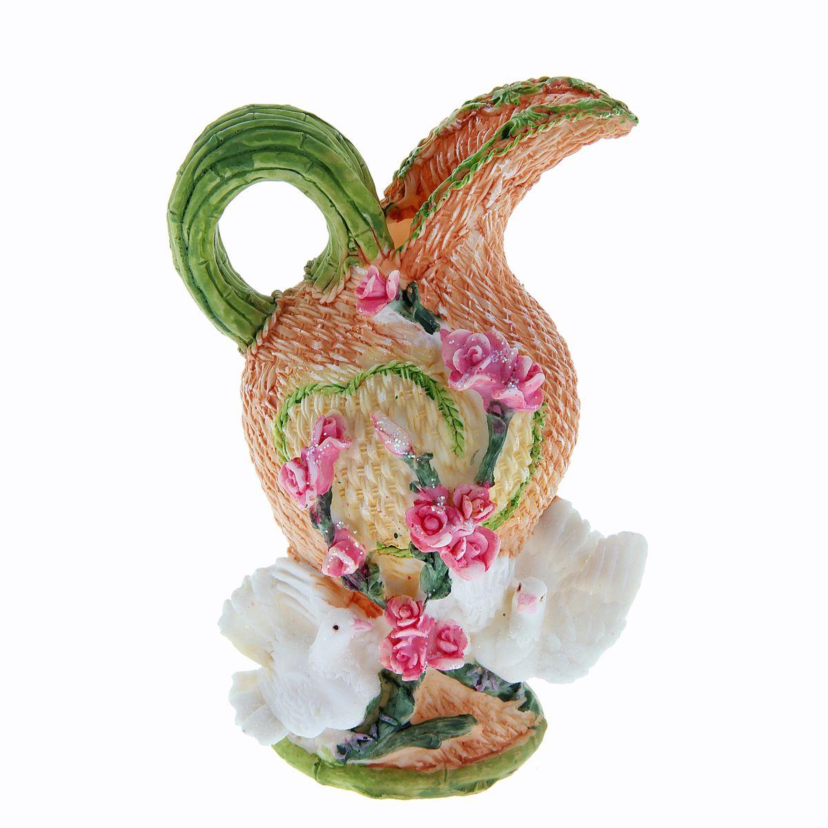 Ваза Sima-land Плетенка, высота 18 см913757Ваза Sima-land Плетенка, изготовленная из высококачественной керамики, декорирована объемными голубями и плетенным рельефом. Интересная форма и необычное оформление сделают эту вазу замечательным украшением интерьера. Она предназначена как для живых, так и для искусственных цветов. Любое помещение выглядит незавершенным без правильно расположенных предметов интерьера. Они помогают создать уют, расставить акценты, подчеркнуть достоинства или скрыть недостатки.
