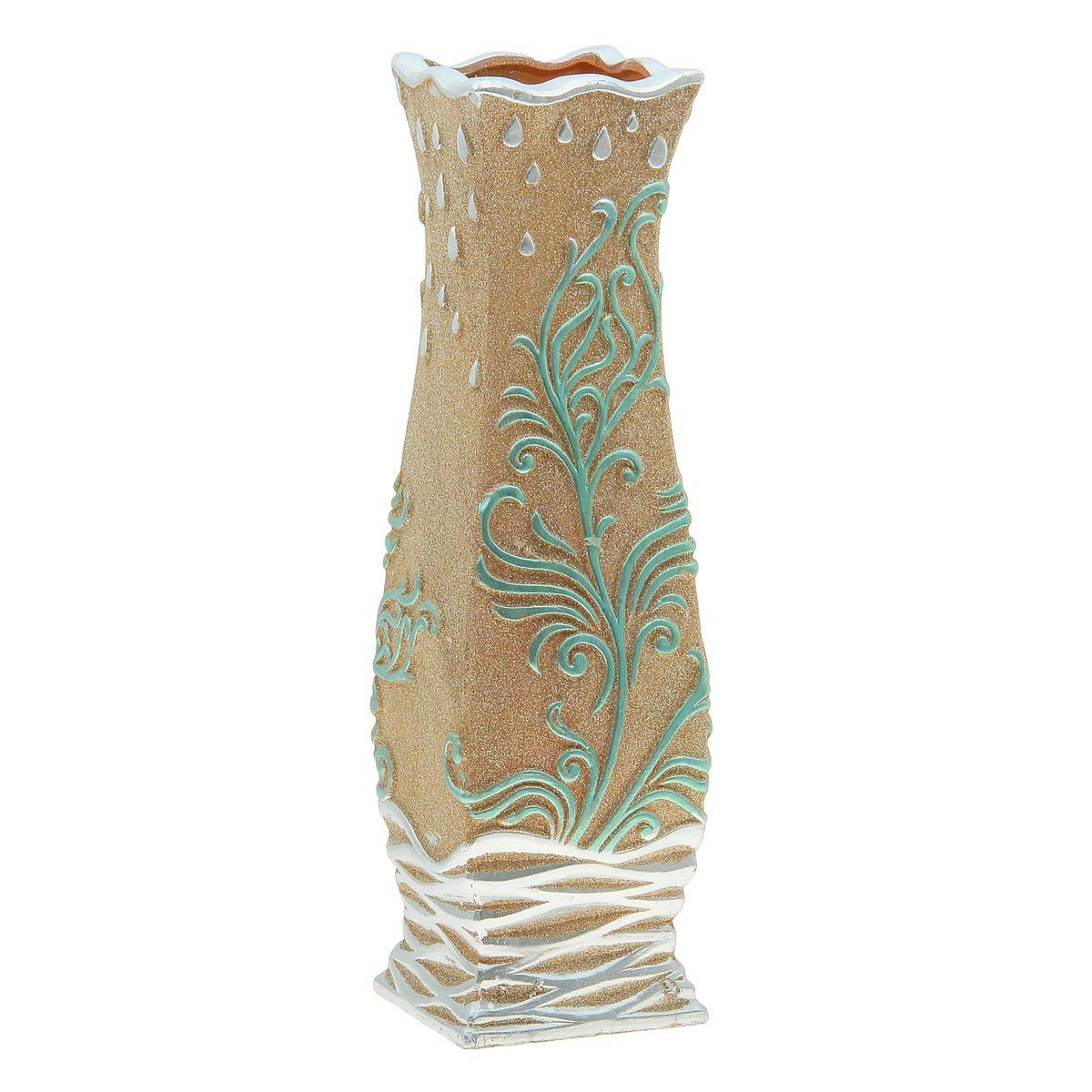 Ваза керамика напольная изумрудная посыпка 60 см круглая 920580920580Керамика