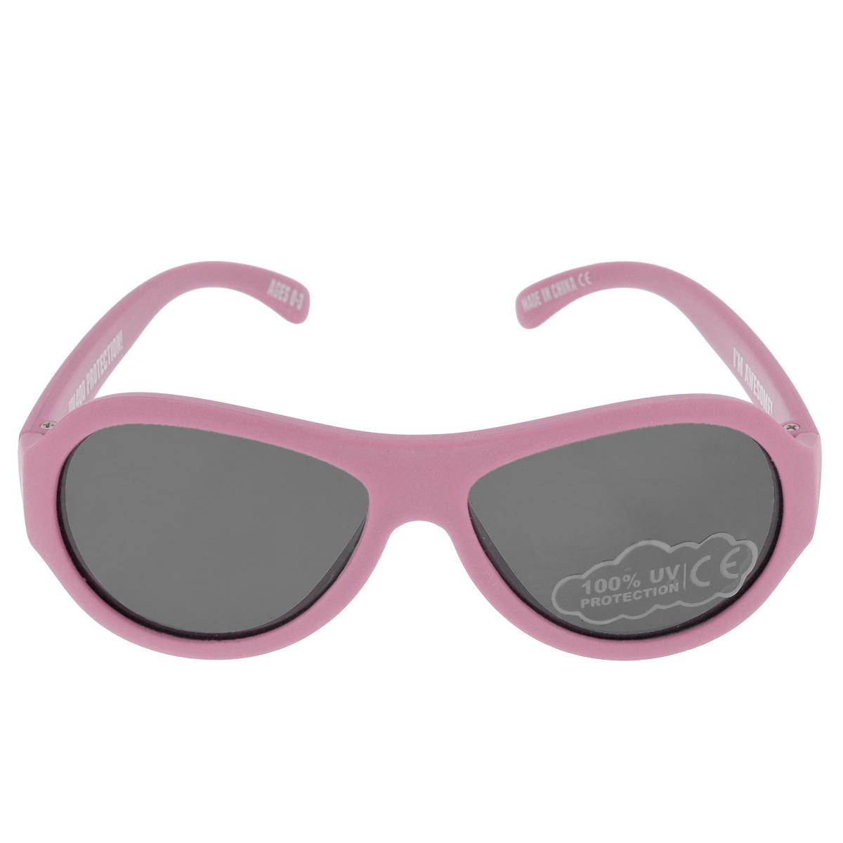 Детские солнцезащитные очки Babiators Принцесса (Princess), цвет: розовый, 0-3 летBAB-004Вы делаете все возможное, чтобы ваши дети были здоровы и в безопасности. Шлемы для езды на велосипеде, солнцезащитный крем для прогулок на солнце... Но как насчёт влияния солнца на глаза вашего ребёнка? Правда в том, что сетчатка глаза у детей развивается вместе с самим ребёнком. Это означает, что глаза малышей не могут отфильтровать УФ-излучение. Проблема понятна - детям нужна настоящая защита, чтобы глазки были в безопасности, а зрение сильным. Каждая пара солнцезащитных очков Babiators для детей обеспечивает 100% защиту от UVA и UVB. Прочные линзы высшего качества не подведут в самых сложных переделках. В отличие от обычных пластиковых очков, оправа Babiators выполнена из гибкого прорезиненного материала, что делает их ударопрочными, их можно сгибать и крутить - они не сломаются и вернутся в прежнюю форму. Не бойтесь, что ребёнок сядет на них - они всё выдержат. Будьте уверены, что очки Babiators созданы безопасными, прочными и классными, так что вы и ваш ребенок можете...