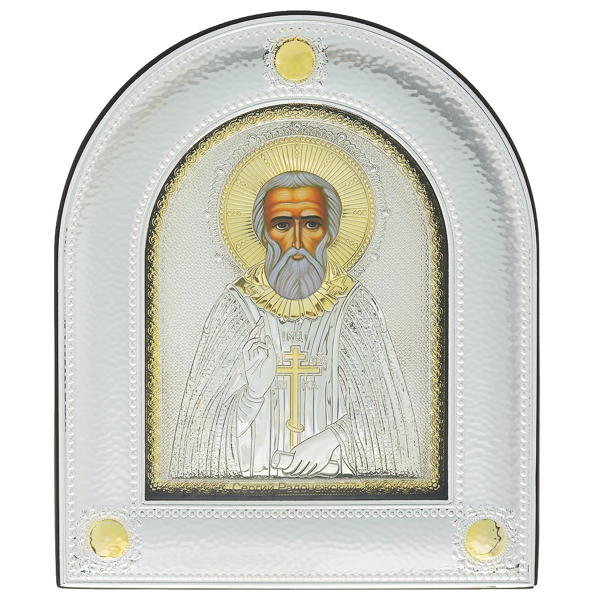 Икона Святого Сергия Радонежского, 30 см х 25,2 см