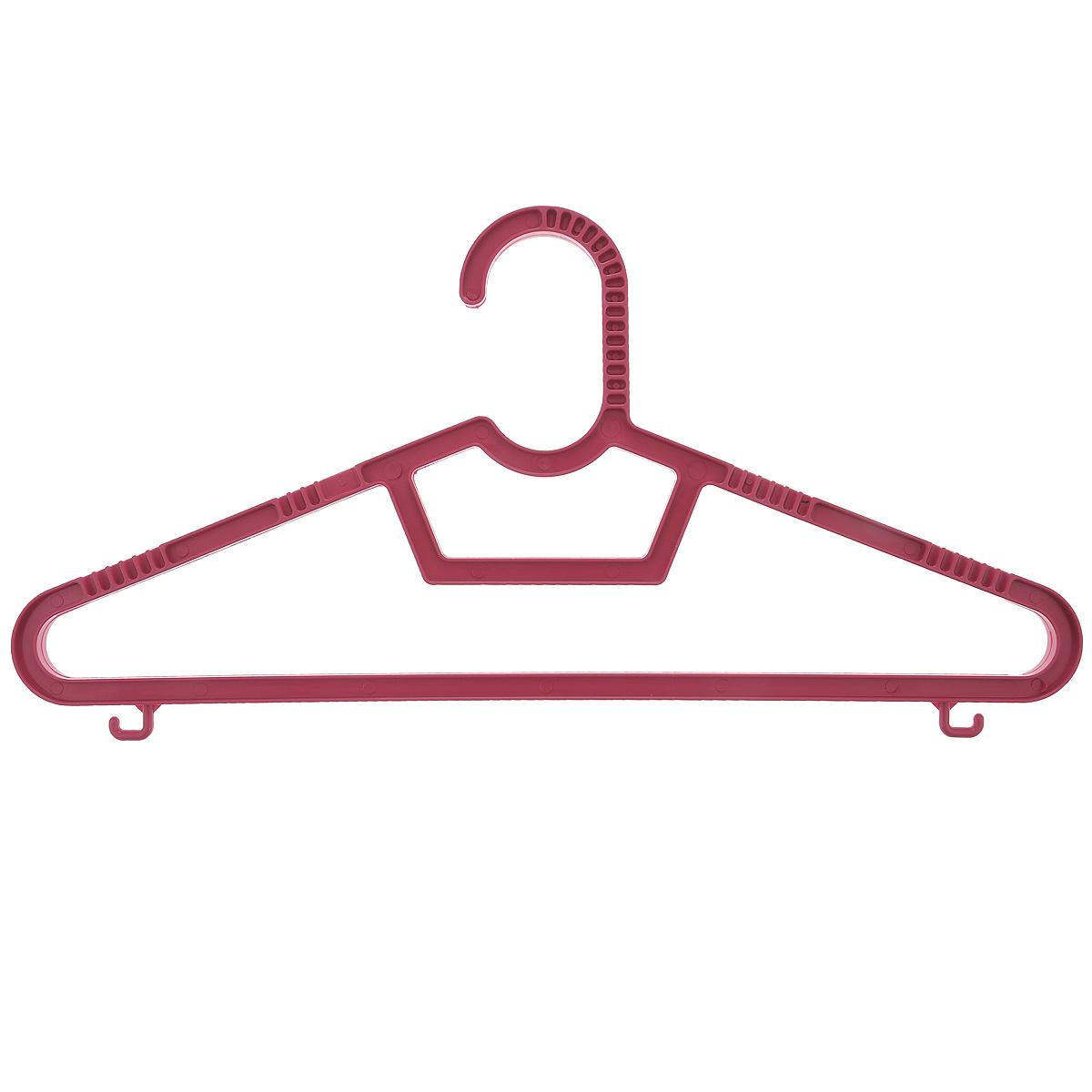 Набор вешалок Полимербыт, с перекладиной, с крючками, цвет: темно-розовый, размер 40-42, 3 штС236Набор вешалок Полимербыт выполнен из пластика. Изделия оснащены перекладинами и крючками. Вешалка - это незаменимая вещь для того, чтобы ваша одежда всегда оставалась в хорошем состоянии. Комплектация: 3 шт. Размер одежды: 40-42.