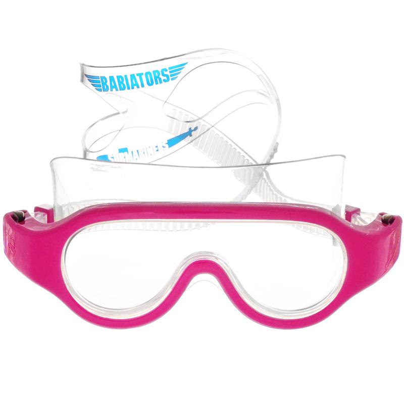 Детские очки для плавания Babiators Submariners. Popstar, цвет: розовый, 3-6 летBAB-069Стильные детские очки для плавания Babiators Submariners. Popstar будут незаменимы для ваших детей во время плавания в бассейне. Линзы очков изготовлены из ударопрочного поликарбоната со специальным покрытием антифог, которое предотвращает запотевание линз. Линзы вдобавок защитят глаза от ультрафиолета. Ремешок для головы выполнен из силикона, что обеспечит ребенку комфорт во время плавания. Длина ремешка очень просто регулируется нажатием одной кнопки, так что дети полюбят их носить, а оригинальный чехол в виде подводной лодки пригодится, чтобы брать очки с собой. Очки для плавания Babiators Submariners. Popstar выпускаются в одном размере, который подходит для большинства малышей и детей в возрасте 3-6 лет.