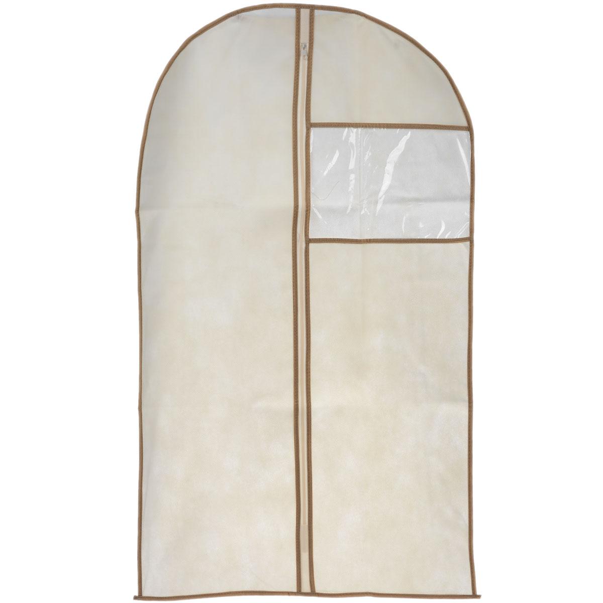 Чехол для пиджака Cosatto, цвет: бежевый, 100 см х 60 смCOVLCAT020 бежевыйЧехол для пиджака Cosatto изготовлен из дышащего нетканого материала (полипропилен), безопасного в использовании. Предназначен для хранения курток, пиджаков и жакетов. Имеет прозрачное окно, застежку-молнию и специальное отверстие для крючка вешалки. Материал можно протирать в случае загрязнения влажной тряпкой.