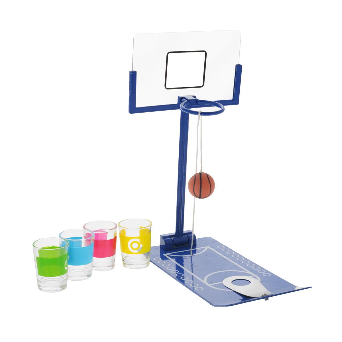 Игра настольная Русские Подарки Мини баскетбол, размер: 21*25 см. 4242942429Мини-баскетбол - это оригинальная игра, которая сделает вашу вечеринку ещё веселей. Попытайтесь попасть мячом в корзину, ведь тот кто проиграет, должен выпить из рюмки любимые напитки. С такой игрой любое застолье превратится в настоящий праздник. Комплектация: игровое поле, 4 рюмки, мяч. Количество игроков: 4. Рекомендуемый возраст: 3+.