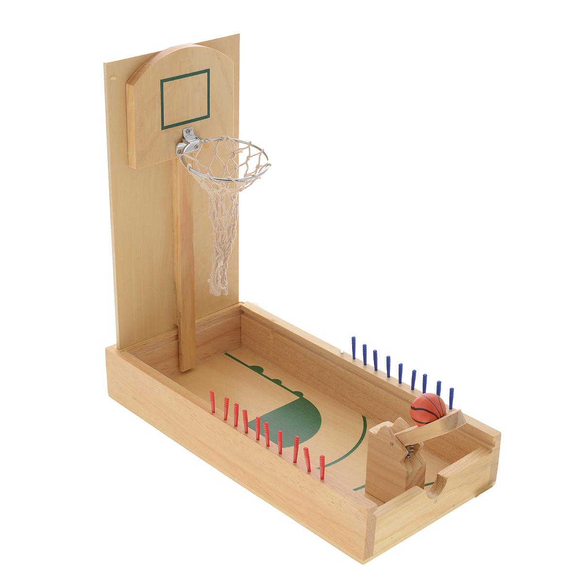 Игра настольная Русские Подарки Пинбол-баскетбол, размер: 36*18*6 см. 4232842328С настольной игрой Пинбол-баскетбол дети смогут устроить настоящие соревнования. Соберите баскетбольную площадку и забрасывайте мяч в корзину с помощью специальной пушки. Победит тот, у кого удачных бросков будет больше. Игра развивает координацию движений, мышление, отлично тренирует реакцию и ловкость рук. Комплектация: игровое поле, мяч. Количество игроков: 2. Рекомендуемый возраст: 3+.