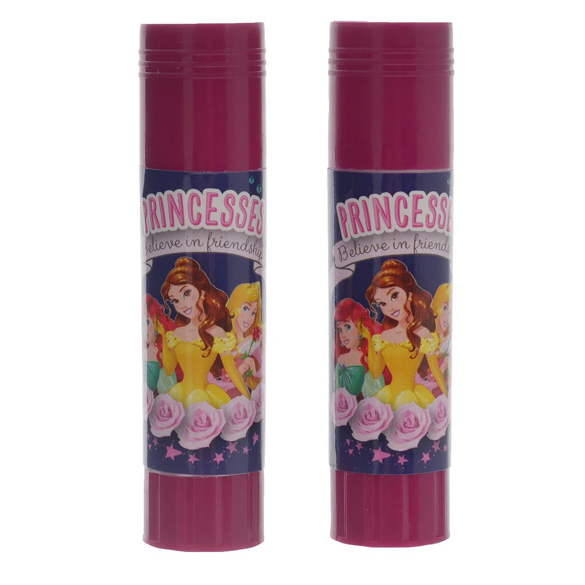 Клей-карандаш Disney Princess, 9 г, 2 штPRCB-US1-9G-H2Клей-карандаш Disney Princess идеально подходит для склеивания бумаги, картона и фотографий. Выкручивающийся механизм обеспечивает постепенное выдвижение клеящего стержня из пластикового корпуса. Клей легко наносится, не деформирует поверхность, а также отстирывается от большинства тканей. Клей-карандаш экологически безопасен и не имеет запаха. Идеален для использования дома, в школе, офисе. Вес одной упаковки: 9 г.