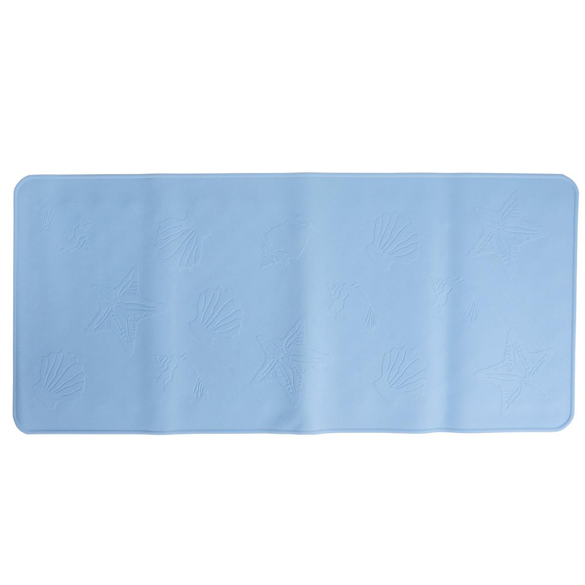 Антискользящий коврик Roxy-kids для ванны, цвет: синий, 34,5 см х 74 смBM-3474Антискользящий коврик для ванны Roxy-kids изготовлен из высококачественной натуральной мягкой резины без применения токсичного сырья и подходит для большинства детских ванночек, ванн и душевых кабин. Коврик крепится на дно ванны при помощи присосок, и предотвращает прямой контакт тела ребенка со скользким дном ванны. Покрытие коврика препятствует скольжения ног или тела ребенка. Специальные отверстия позволяют воде стекать и обеспечивают более надежное крепление к поверхности ванны. Мягкие надежные присоски препятствуют скольжению коврика в ванне. Рельефные элементы способствуют массажу.