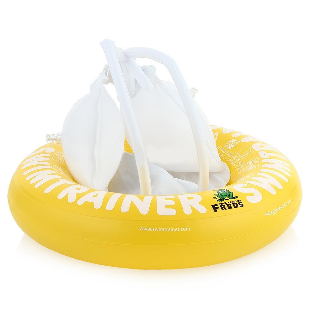 Круг надувной Swimtrainer Classic, от 4 до 8 лет, цвет: желтый. 1033010330Надувной круг Swimtrainer Classic изготовлен из ПВХ. Круг состоит из 5 независимых надувных камер. Помогает удерживать правильное положение тела в воде. Благодаря специальной системе крепления, ваш ребенок не выскользнет из круга. Круг подходит для детей 4-8 лет. Он обеспечивает минимальную поддержку, так как предназначен для почти умеющих плавать детей. Основная задача круга - плавный переход к самостоятельному плаванию. С кругом Swimtrainer Classic ваш ребенок будет плавать без страха и с удовольствием. Максимальный вес ребенка: 36 кг.
