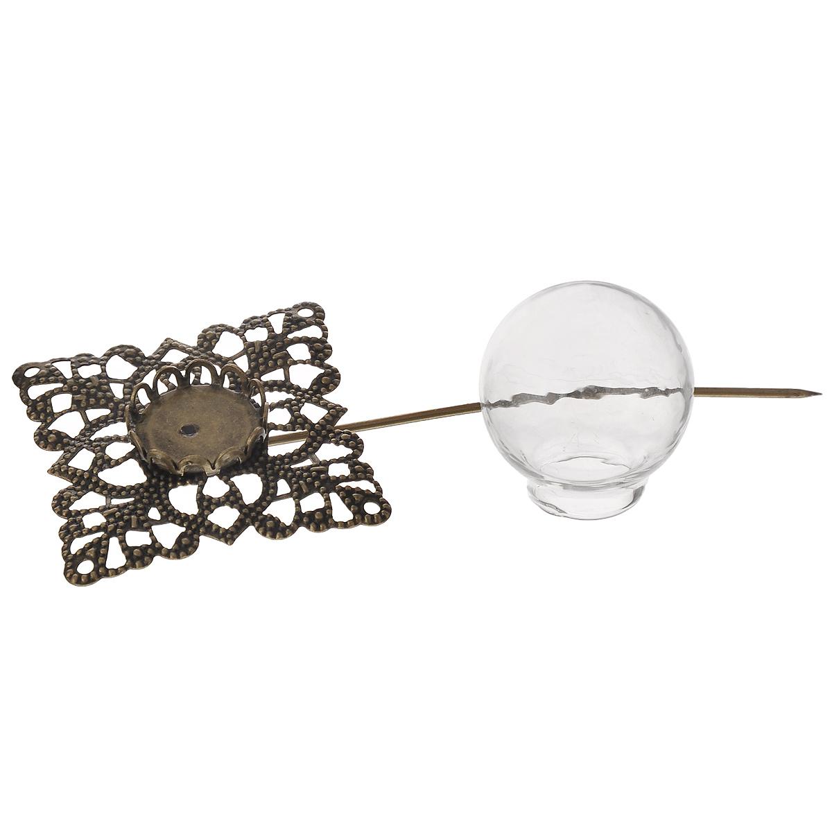 Заготовка для бижутерии ScrapBerrys Шпилька-квадрат, 75 ммSCB24001011Заготовка ScrapBerrys Шпилька-квадрат, изготовленная из металла и стекла, предназначена для изготовления бижутерии. Заготовка состоит из двух частей: металлической основы в виде квадрата с иглой и верхней стеклянной куполообразной части. С ее помощью вы сможете создать оригинальную бижутерию ручной работы. Изготовление украшений - занимательное хобби и реализация творческих способностей рукодельницы. Радуйте себя и своих близких украшениями, сделанными своими руками! Размер металлической части заготовки: 30 мм х 30 мм. Длина шпильки: 75 мм. Диаметр стеклянной части: 18 мм.
