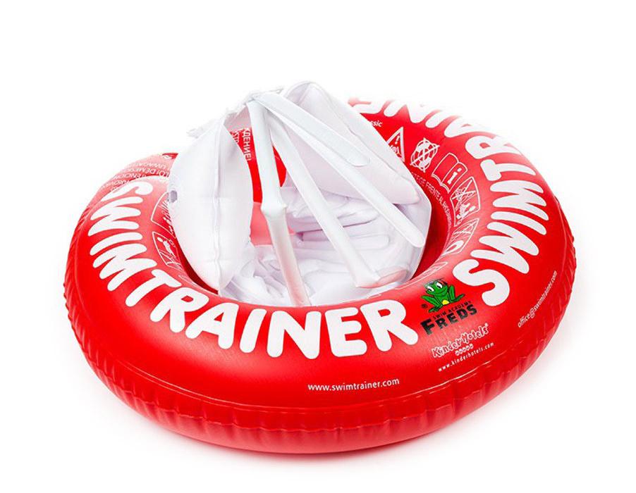 Круг надувной Swimtrainer Classic, от 3 месяцев до 4 лет, цвет: красный. 1011010110Надувной круг Swimtrainer Classic изготовлен из ПВХ. Круг состоит из 5 независимых надувных камер. Помогает удерживать правильное положение тела в воде. Благодаря специальной системе крепления, ваш ребенок не выскользнет из круга. Круг подходит для детей от 3 месяцев до 4 лет. Он обеспечивает максимальную поддержку, так как предназначен для не умеющих плавать детей. Основная задача круга - вспомнить и укрепить плавательные рефлексы ребенка (синхронные отталкивания ножками). С кругом Swimtrainer Classic обучение плаванию будет проходить безопасно и весело. Максимальный вес ребенка: 18 кг.
