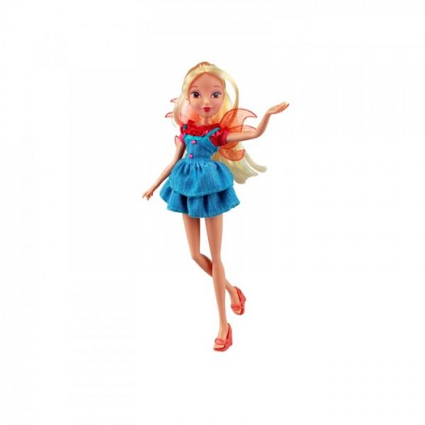 Winx Club Кукла Гардения СтеллаIW01811400_СтеллаВсе девочки мечтают играть с куклами Winx, ведь они выполнены в виде знаменитых девушек-фей из мультсериала Winx Club. Феи-подружки Блум, Стелла, Текна, Муза, Лейла и Флора выручают друг друга в беде и спасают мир от темных сил. Юные феи Winx - удивительные могущественные волшебницы, которым под силу любое превращение! А еще они, как и все девчонки, самые настоящие модницы! Волшебницы Винкс обожают крутиться перед зеркалом и менять наряды! Кукла Winx Club Гардения. Стелла порадует вашу малышку и доставит ей много удовольствия от часов, посвященных игре с ней. Куколка с длинными светлыми волосами одета в модное платьице, на ногах - яркие танкетки. Образ дополняют съемные оранжевые крылышки, сумочка и очки. Ручки, ножки и голова Стеллы подвижны. Ваша малышка с удовольствием будет играть с этой куколкой, проигрывая сюжеты из мультсериала или придумывая различные истории. Заводная Стелла без ума от шопинга и пижамных вечеринок! Ее любимая подруга...