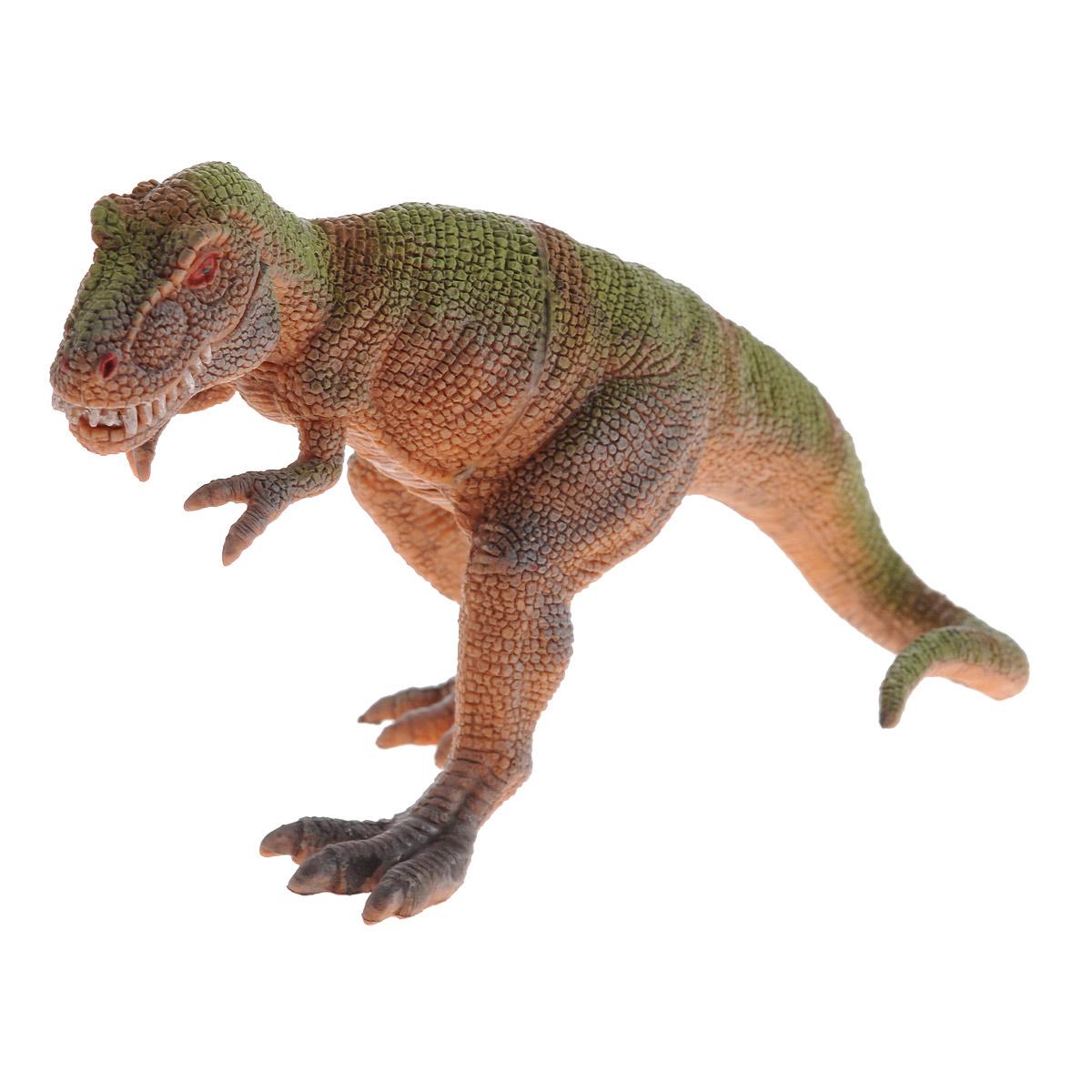 Фигурка Megasaurs Тираннозавр с двигающейся пастью, цвет: оранжевый, зеленыйSV11025_оранжевый, светло-зеленый