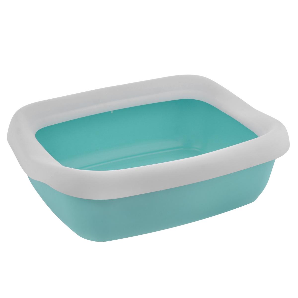 Туалет для кошек MPS Beta Maxi, с бортом, цвет: бирюзовый, белый, 49 см х 39 см х 13 смS08040200 бирюзовый, белыйТуалет для кошек MPS Beta Maxi изготовлен из качественного прочного пластика. Высокий борт, прикрепленный по периметру лотка, удобно защелкивается и предотвращает разбрасывание наполнителя. Это самый простой в употреблении предмет обихода для кошек и котов.