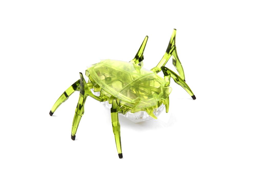 Микро-робот Hexbug Scarab, цвет: зелёный477-2248_2Микро-робот Hexbug Scarab - высокоскоростной механический робот-жук, внешне похожий на скарабея. Микро-робот лишен датчиков, способен быстро передвигаться на своих 6 лапах и самостоятельно переворачиваться в случае неудачного приземления на спину. Благодаря мощному моторчику, он способен толкать перед собой объекты, в несколько раз превышающие его собственные габариты. В случае столкновения с очень крупным предметом, робот-жук оттолкнется от него передними лапами и отпрыгнет, ища новый для себя путь. Микро-робот Hexbug Scarab станет отличным подарком для вашего ребенка. Робот-жук работает от 3 батареек типа AG13 (входят в комплект). Гарантия: 15 дней.