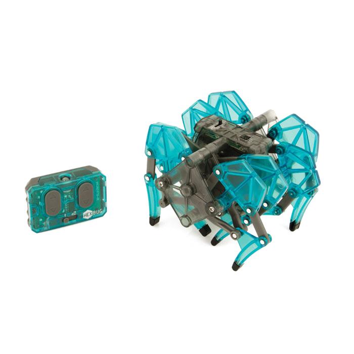 Микро-робот Hexbug Strandbeest, цвет: бирюзовый477-2825_4Микро-робот Hexbug Strandbeest - необычная, удивительной формы конструкция, имеющая 4 пары ног. Вдохновение на создание этого микро-робота пришло от голландского физика, а теперь художника Тео Янсена. Strandbeest управляется при помощи пульта. При нажатии правой кнопки, будут двигаться 4 правые ноги, при нажатии левой - 4 левые ноги. Благодаря такому строению, микро-робот способен плавно двигаться в любую сторону, а также совершать развороты на 360°. Микро-робот работает от 5 батареек типа AG13, три для Strandbeest, две для пульта управления (батарейки входят в комплект). Гарантия: 15 дней.