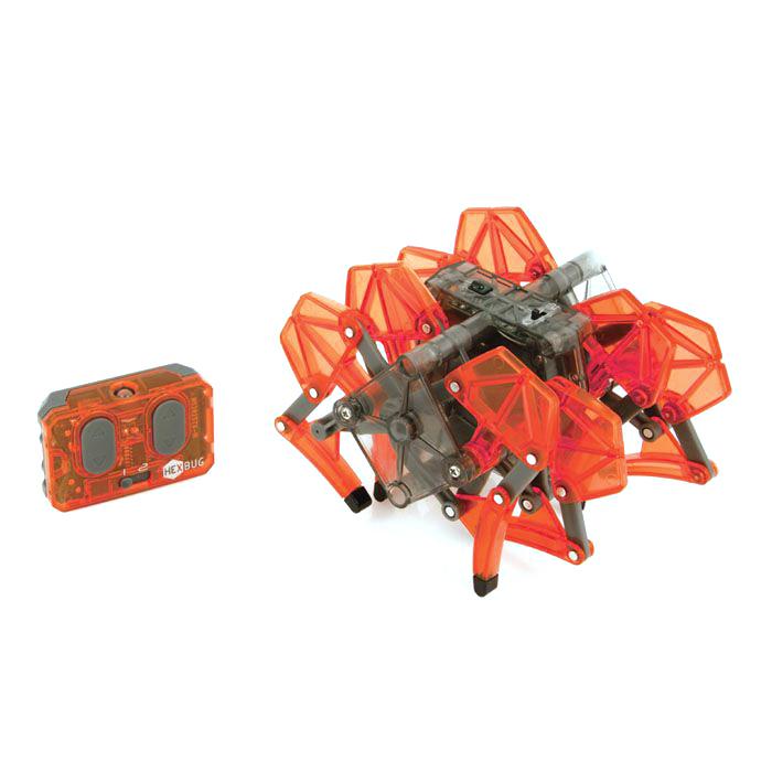 Микро-робот Hexbug Strandbeast, цвет: красный477-2825Микро-робот Hexbug Strandbeast - необычная, удивительной формы конструкция, имеющая 4 пары ног. Вдохновение на создание этого микро-робота пришло от голландского физика, а теперь художника Тео Янсена. Strandbeest управляется при помощи пульта. При нажатии правой кнопки, будут двигаться 4 правые ноги, при нажатии левой - 4 левые ноги. Благодаря такому строению, микро-робот способен плавно двигаться в любую сторону, а также совершать развороты на 360°. Микро-робот работает от 5 батареек типа AG13, три для Strandbeest, две для пульта управления (батарейки входят в комплект). Гарантия: 15 дней.