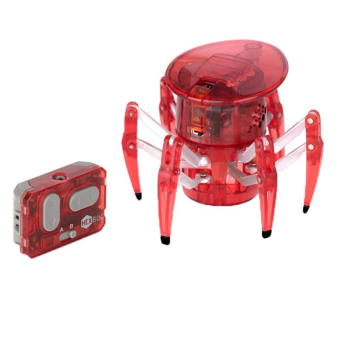 Микро-робот Hexbug Spider, цвет: темно-красный451-1652_4Микро-робот Hexbug Spider - самый крупный представитель семейства Hexbug. Может перемещаться в любую сторону, двигается изящно и быстро. Красный светодиодный глаз, расположенный на вращающейся на 360° голове микро-робота, указывает направление его движения. С помощью двухканального пульта дистанционного управления вы сможете одновременно управлять двумя роботами-пауками. Внутреннюю конструкцию микро-робота можно просматривать благодаря прозрачному корпусу из прочного пластика. Hexbug Spider работает от 5 батареек типа AG13, три для самого микро-робота, две для пульта управления (батарейки входят в комплект). Гарантия: 15 дней.