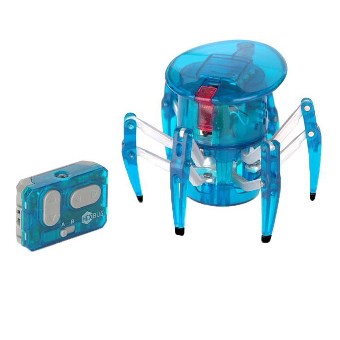 Микро-робот Hexbug Spider, цвет: голубой