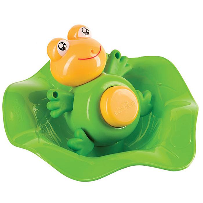 """Игрушка для ванны Happy Baby """"Лягушка-прорезыватель Funny Frog и ковш"""", цвет: зеленый"""