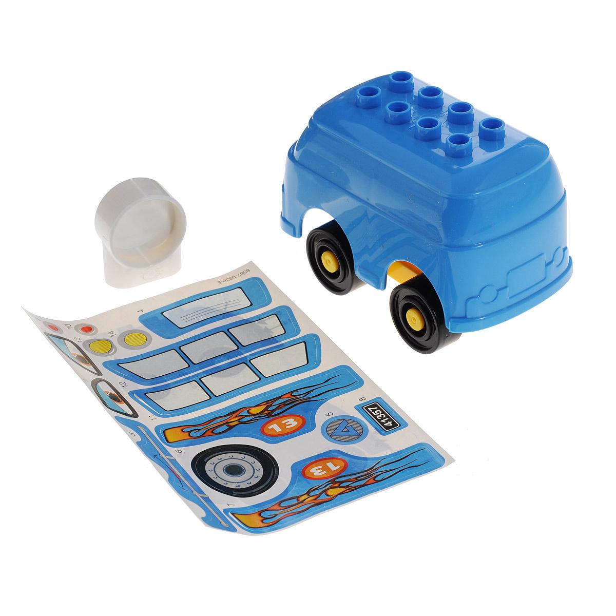 Машинка-конструктор Androni Giocattoli, цвет голубой, 4 элемента. 8567-00001109186/8567_голубойМашинка Androni Giocattoli предназначена для самых юных конструкторов. Элементы, из которых собирается машинка, выполнены из высококачественного прочного пластика, стойкого к броскам и ударам. Они имеют безопасную закругленную форму, которая подойдет даже для маленьких ручек полуторагодовалого малыша. Конструктор - это один из самых увлекательнейших и веселых способов времяпрепровождения. В процессе игры с конструкторами дети приобретают и постигают такие необходимые навыки как познание, творчество, воображение.