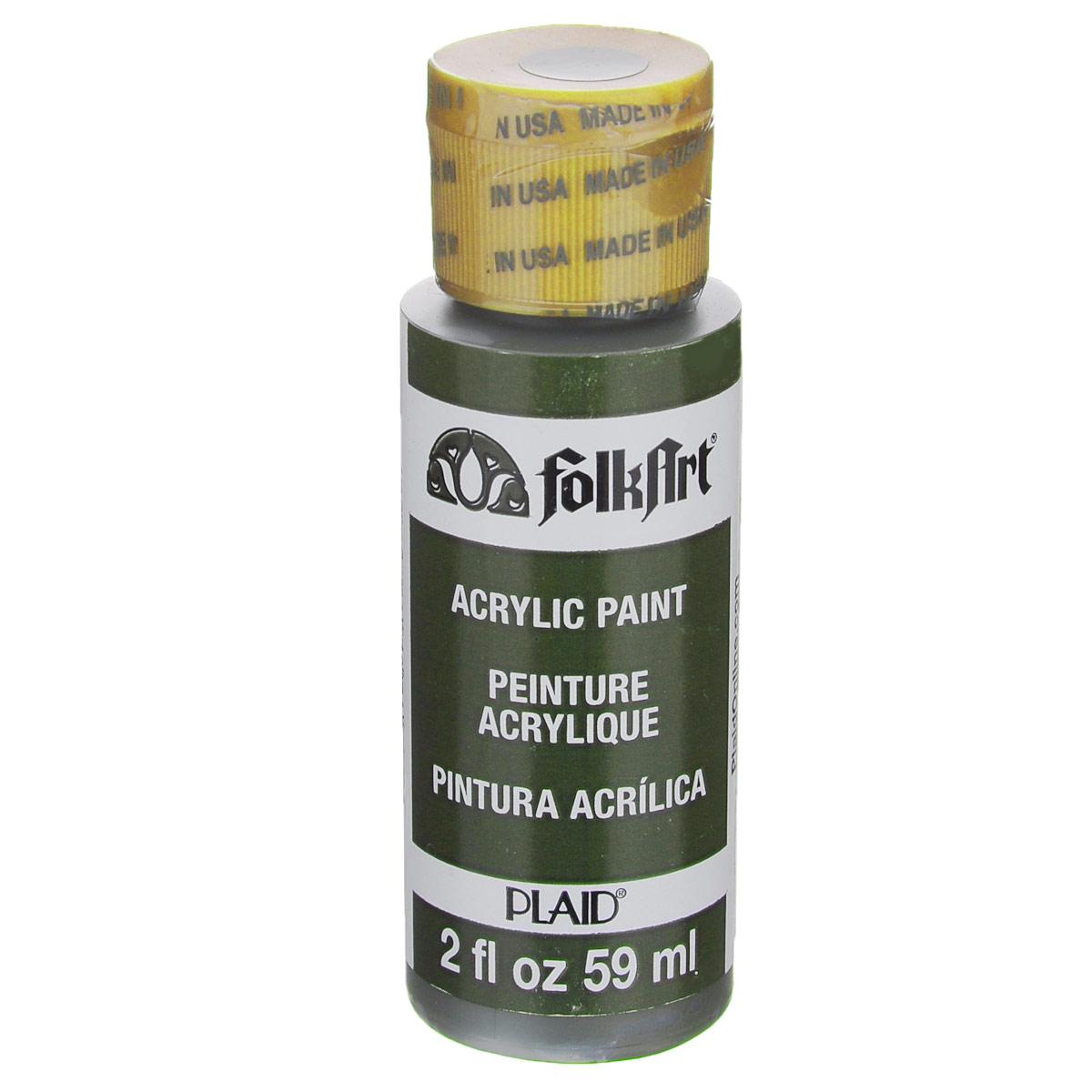 Акриловая краска FolkArt, цвет: оливковый зеленый, 59 млPLD-00449Акриловая краска FolkArt выполнена на водной основе и предназначена для рисования на пористых поверхностях. Краска устойчива к погодным и ультрафиолетовым воздействиям. Не нуждается в дополнительном покрытии герметиком. После высыхания имеет глянцевый вид. Изделия покрытые краской FolkArt, прекрасно дополнят ваш интерьер. Объем: 59 мл.