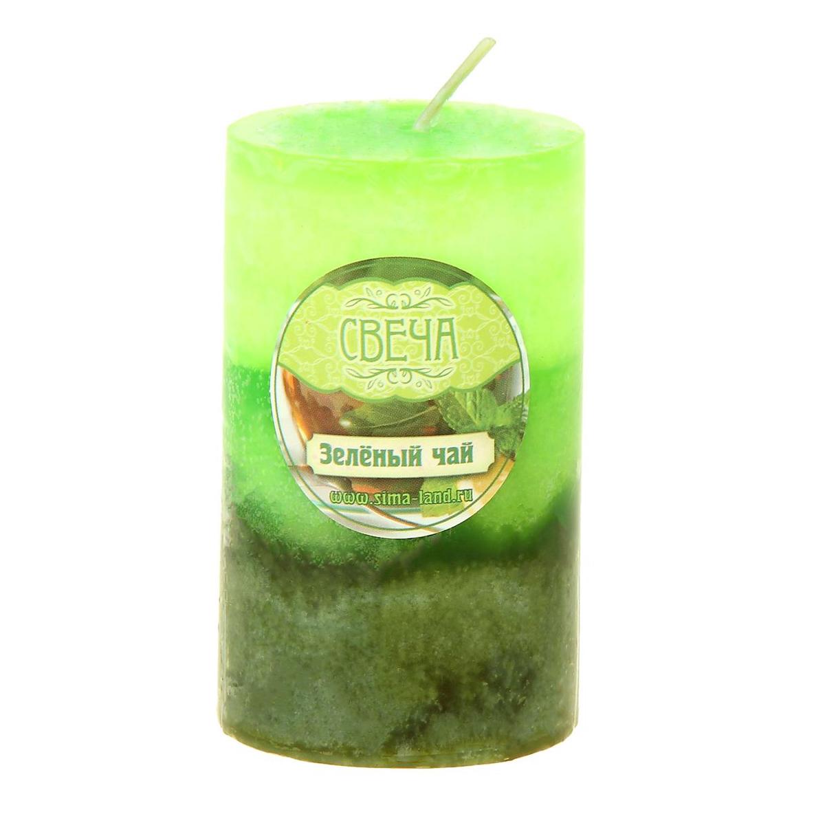 Свеча ароматизированная Sima-land Зеленый чай, высота 7,5 см849475Свеча Sima-land Зеленый чай выполнена из воска в виде столбика. Свеча порадует ярким дизайном и освежающим ароматом зеленого чая, который понравится как женщинам, так и мужчинам. Создайте для себя и своих близких незабываемую атмосферу праздника в доме. Ароматическая свеча Sima-land Зеленый чай раскрасит серые будни яркими красками.