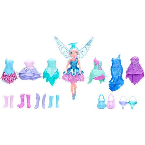 Кукла Disney Fairies Periwinkles Crystal Boutique, с аксессуарами, 14 см762660_голубойОчаровательная кукла Disney Fairies Periwinkles Crystal Boutique порадует любую девочку и обязательно станет ее любимой игрушкой. В комплект входит куколка-фея и ее наряды. Кукла выполнена из прочного пластика. У нее короткие светлые волосы. Куколка одета в сверкающее платье феи. Также в комплект входят дополнительные наряды - всевозможные платья, высокие сапожки и различные сумочки. Завершают сказочный образ полупрозрачные крылья феи. Голова, ручки и ножки куклы подвижны. Игры с куклой способствуют эмоциональному развитию ребенка, а также помогают формировать воображение и художественный вкус. Малышка проведет множество счастливых часов, играя с очаровательной феей. Великолепное качество исполнения делают эту игрушку чудесным подарком к любому празднику.