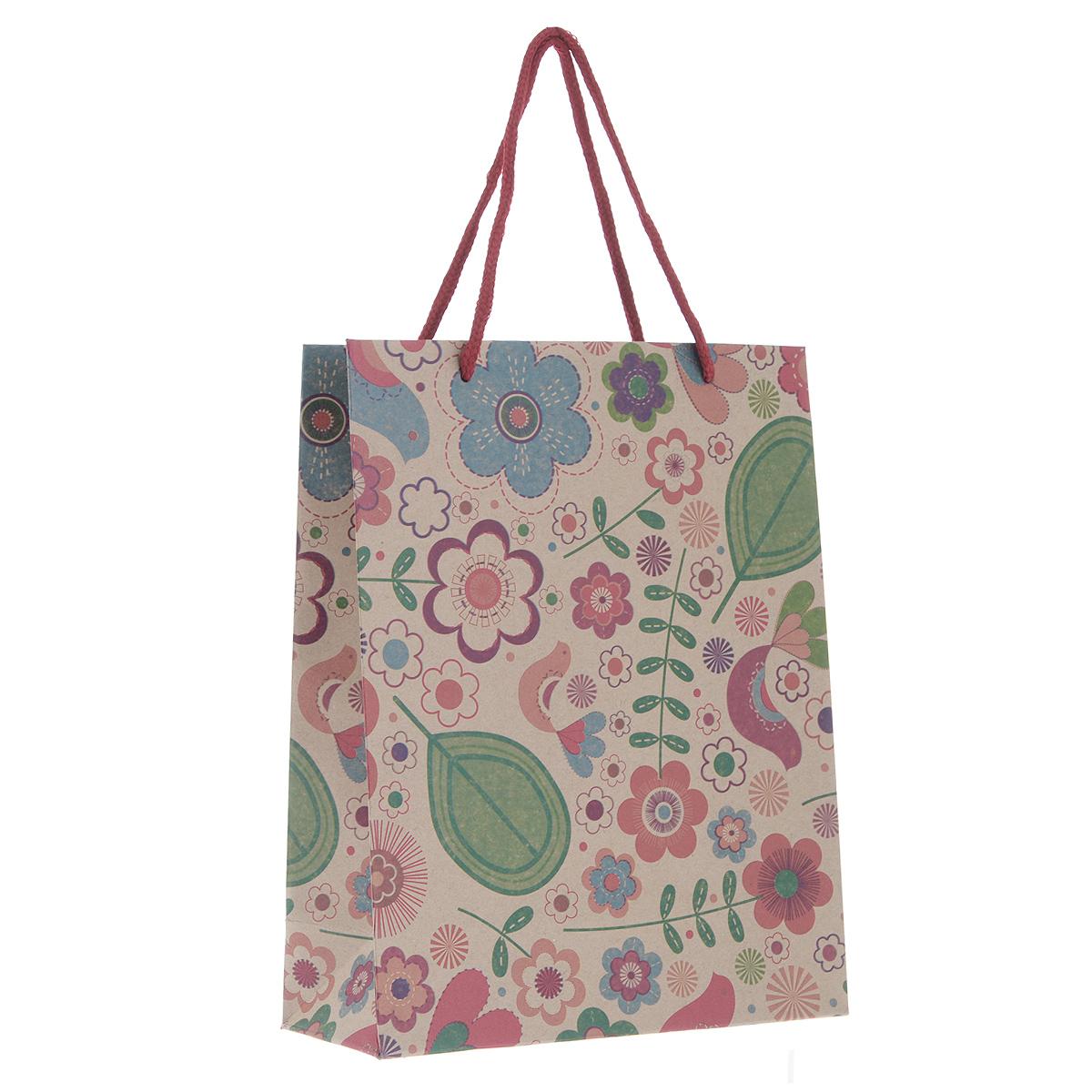 Пакет подарочный Радужные цветочки, 19 см х 24,5 см х 8 см38872Подарочный пакет Радужные цветочки, изготовленный из плотной бумаги, станет незаменимым дополнением к выбранному подарку. Дно изделия укреплено плотным картоном, который позволяет сохранить форму пакета и исключает возможность деформации дна под тяжестью подарка. Для удобной переноски на пакете имеются две ручки из шнурков. Подарок, преподнесенный в оригинальной упаковке, всегда будет самым эффектным и запоминающимся. Окружите близких людей вниманием и заботой, вручив презент в нарядном, праздничном оформлении.
