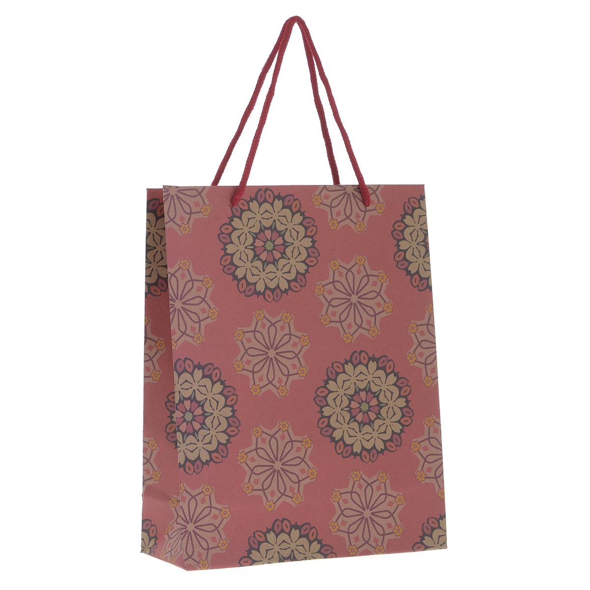 Пакет подарочный Розовые цветы, 19 см х 24,5 см х 8 см - Феникс-Презент38876Подарочный пакет Розовые цветы, изготовленный из плотной бумаги, станет незаменимым дополнением к выбранному подарку. Дно изделия укреплено плотным картоном, который позволяет сохранить форму пакета и исключает возможность деформации дна под тяжестью подарка. Для удобной переноски на пакете имеются две ручки из шнурков. Подарок, преподнесенный в оригинальной упаковке, всегда будет самым эффектным и запоминающимся. Окружите близких людей вниманием и заботой, вручив презент в нарядном, праздничном оформлении.