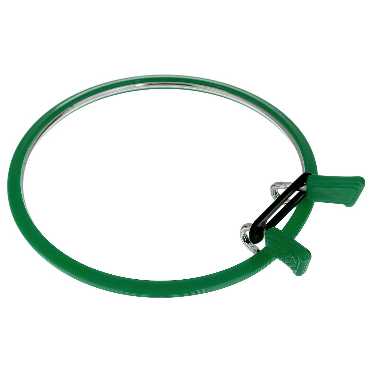 """Пяльцы """"Nurge Hobby"""", цвет: зеленый, диаметр 12,6 см"""