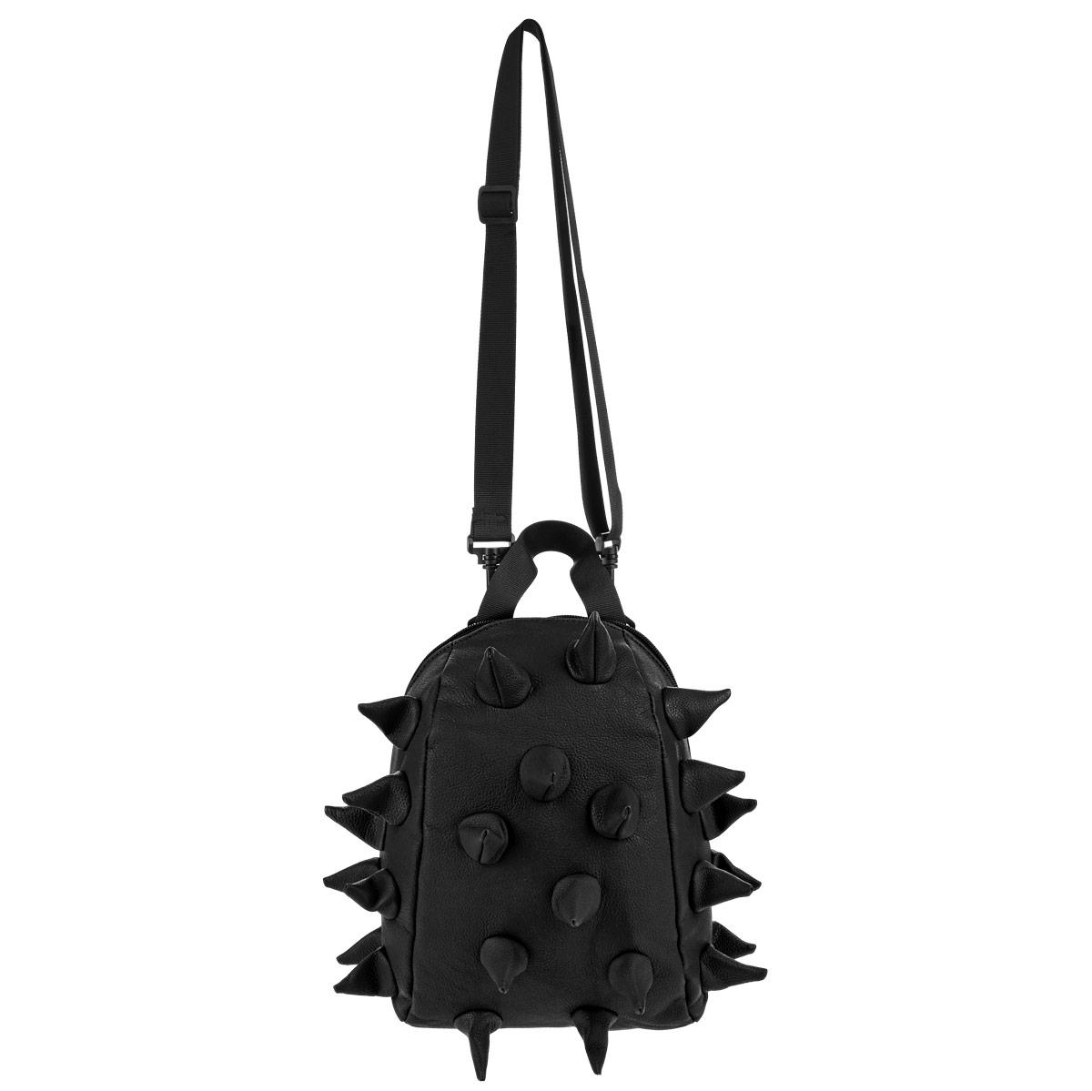 Сумка ланч-бокс MadPax Rex Nibbler, цвет: черный, 4 л3286Оригинальная сумка ланч-бокс MadPax Rex Nibbler - это стильный и практичный аксессуар, который поможет сохранить вашу еду и напитки. Верх сумки выполнен из 100% полиуретана с матовой текстурой, шипы придают изделию неповторимый дизайн. Сумка имеет одно основное отделение, которое закрывается на застежку-молнию. Внутренняя поверхность отделана специальным термоизолирующим материалом, который сохранит напитки прохладными, а домашние сэндвичи теплыми. Специальный кармашек на резинке очень удобен для напитков. Сумка имеет длинный съемный регулируемый ремень, который позволяет носить ее через плечо, и дополнительную ручку для переноски. Сзади расположен кармашек из прозрачного ПВХ для визитки. MadPax - это крутые аксессуары в стиле фанк, которые своим неповторимым дизайном бросают вызов монотонности и скуке. Эти уникальные изделия помогают детям всех возрастов самовыражаться, а их внутренняя структура с отделениями, карманами и застежками-молниями делает их...