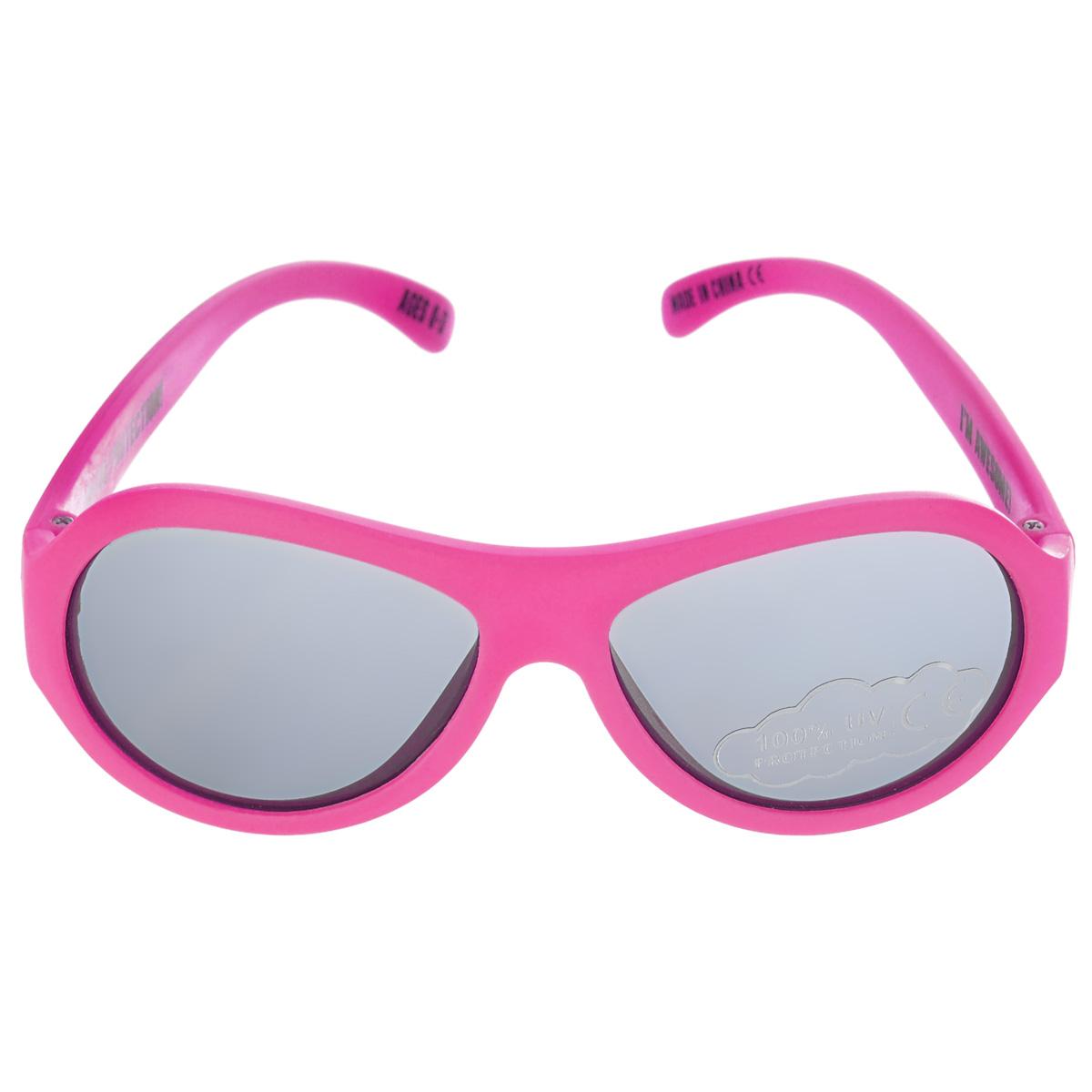 Детские солнцезащитные очки Babiators Поп-звезда (Popstar), цвет: розовый, 0-3 годаBAB-043Вы делаете все возможное, чтобы ваши дети были здоровы и в безопасности. Шлемы для езды на велосипеде, солнцезащитный крем для прогулок на солнце... Но как насчет влияния солнца на глаза вашего ребенка? Правда в том, что сетчатка глаза у детей развивается вместе с самим ребенком. Это означает, что глаза малышей не могут отфильтровать УФ-излучение. Проблема понятна - детям нужна настоящая защита, чтобы глазки были в безопасности, а зрение сильным. Каждая пара солнцезащитных очков Babiators для детей обеспечивает 100% защиту от UVA и UVB. Прочные линзы высшего качества из поликарбоната не подведут в самых сложных переделках. В отличие от обычных пластиковых очков, оправа Babiators выполнена из гибкого прорезиненного материала (термопластичного эластомера), что делает их ударопрочными, их можно сгибать и крутить - они не сломаются и вернутся в прежнюю форму. Не бойтесь, что ребенок сядет на них - они все выдержат. Будьте уверены, что очки...