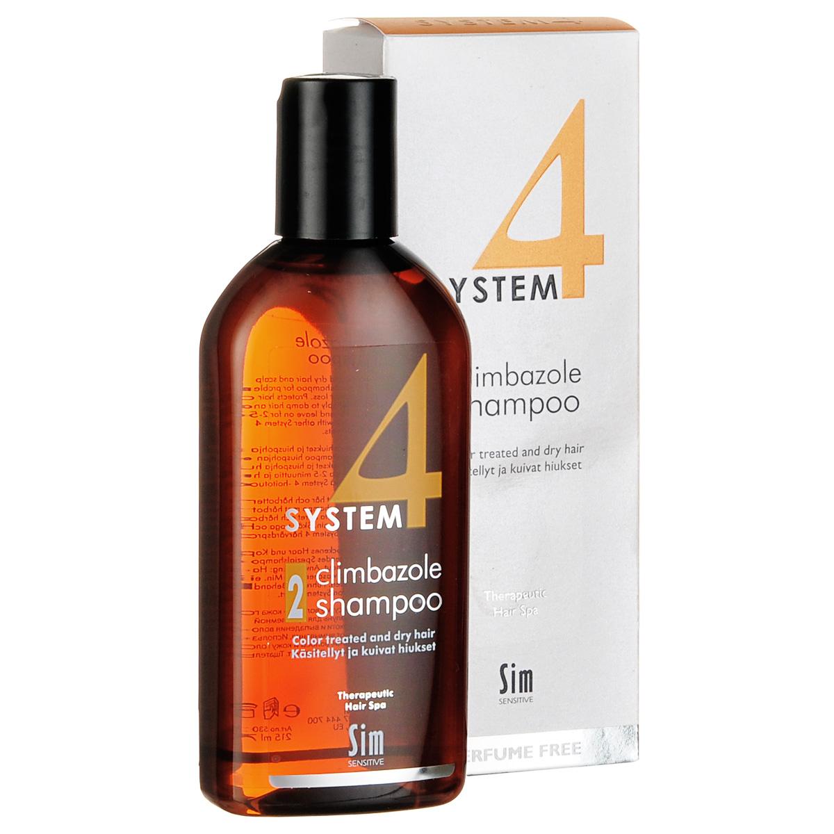 SIM SENSITIVE Терапевтический шампунь № 2 SYSTEM 4 Climbazole Shampoo 2 , 215 мл