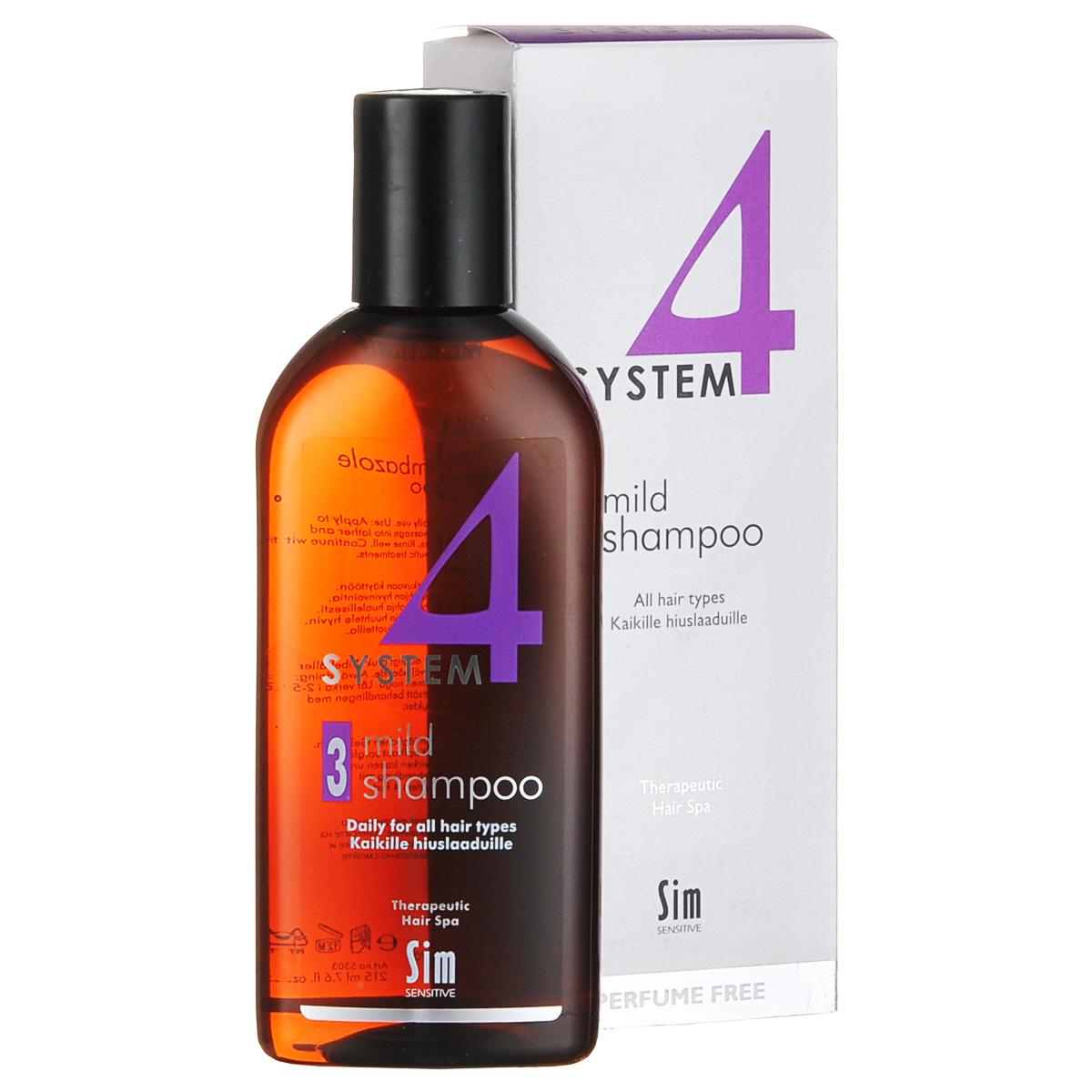 SIM SENSITIVE Терапевтический шампунь № 3 SYSTEM 4 Mild Climbazole Shampoo 3 , 215 мл (Sim Sensitive)