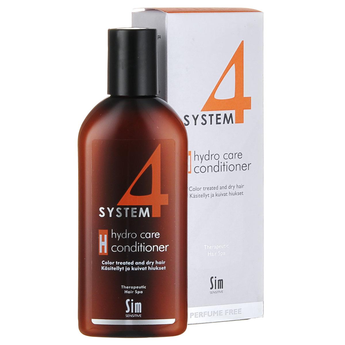 SIM SENSITIVE Терапевтический бальзам H SYSTEM 4 Hydro Care Conditioner «Н» , 215 мл5307КАК РАБОТАЕТ: комплекс пшеничных и растительных протеинов питает волосы и насыщает влагой сухие и поврежденные волосы. Климбазол и пироктон оламин усиливают и подкрепляют действие терапевтических шампуней «Систем 4». Бальзам улучшает структуру волоса, придает послушность и шелковистость. БОРЕТСЯ С: сухостью волос, непослушностью, спутыванием волос расслоением стержня волоса поврежденностью и стрессом волос после окрашивания, химической обработки, частого воздействия горячих температур (фен, утюжки)