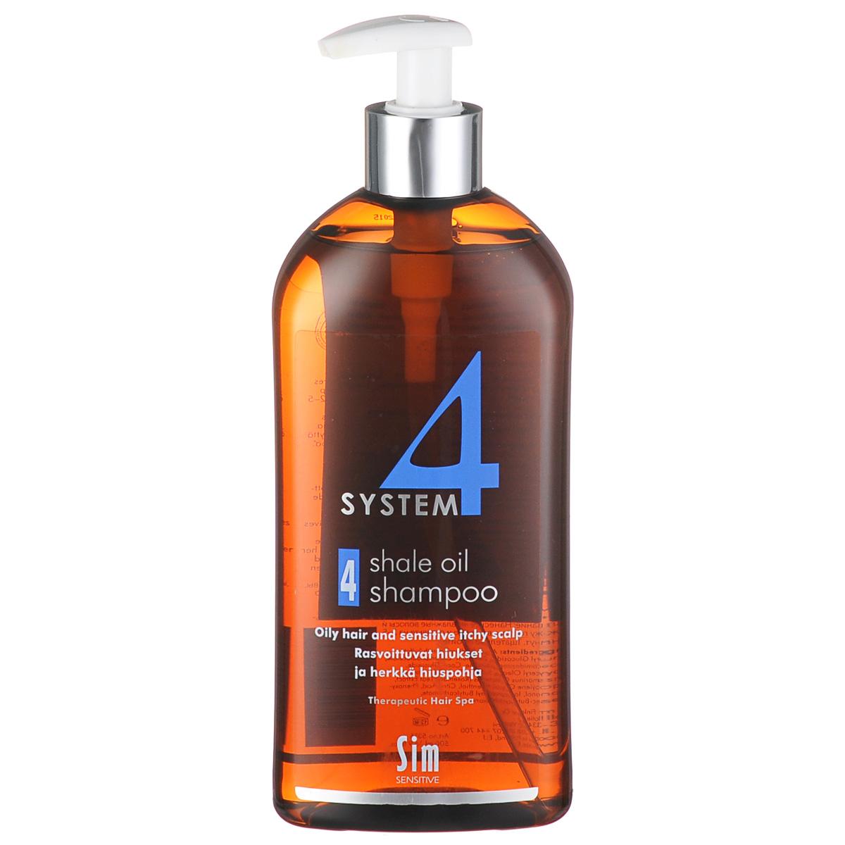 SIM SENSITIVE Терапевтический шампунь № 4 SYSTEM 4 Shale Oil Shampoo 4 , 500 мл5316КАК РАБОТАЕТ: салициловая кислота активно очищают кожу головы, сланцевое масло регулирует активность сальных желез. Розмарин и ментол освежают и дезинфицируют кожу головы. Пироктон оламин и климбазол устраняют грибок и восстанавливают микрофлору кожи головы. Входящие в состав амфотерные ПАВы, обладают мягкими моющими свойствами. БОРЕТСЯ С: чрезмерной жирностью волос и кожи головы зудом кожи головы жирной перхотью