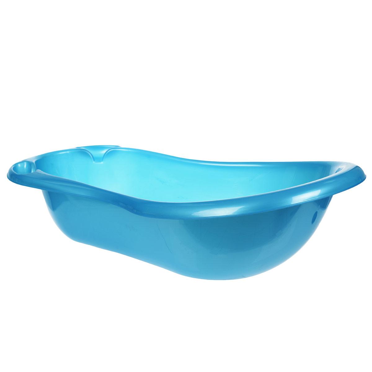 Ванна детская Эльфпласт, цвет: голубой, 97 см х 50 см х 27 см033Яркая ванночка Эльфпласт идеально подойдет для купания малыша. Ванна, изготовленная из прочного безопасного материала без содержания токсичных веществ, имеет удобные выемки для мыла и других принадлежностей. Дно ванночки оформлено красочным изображением.