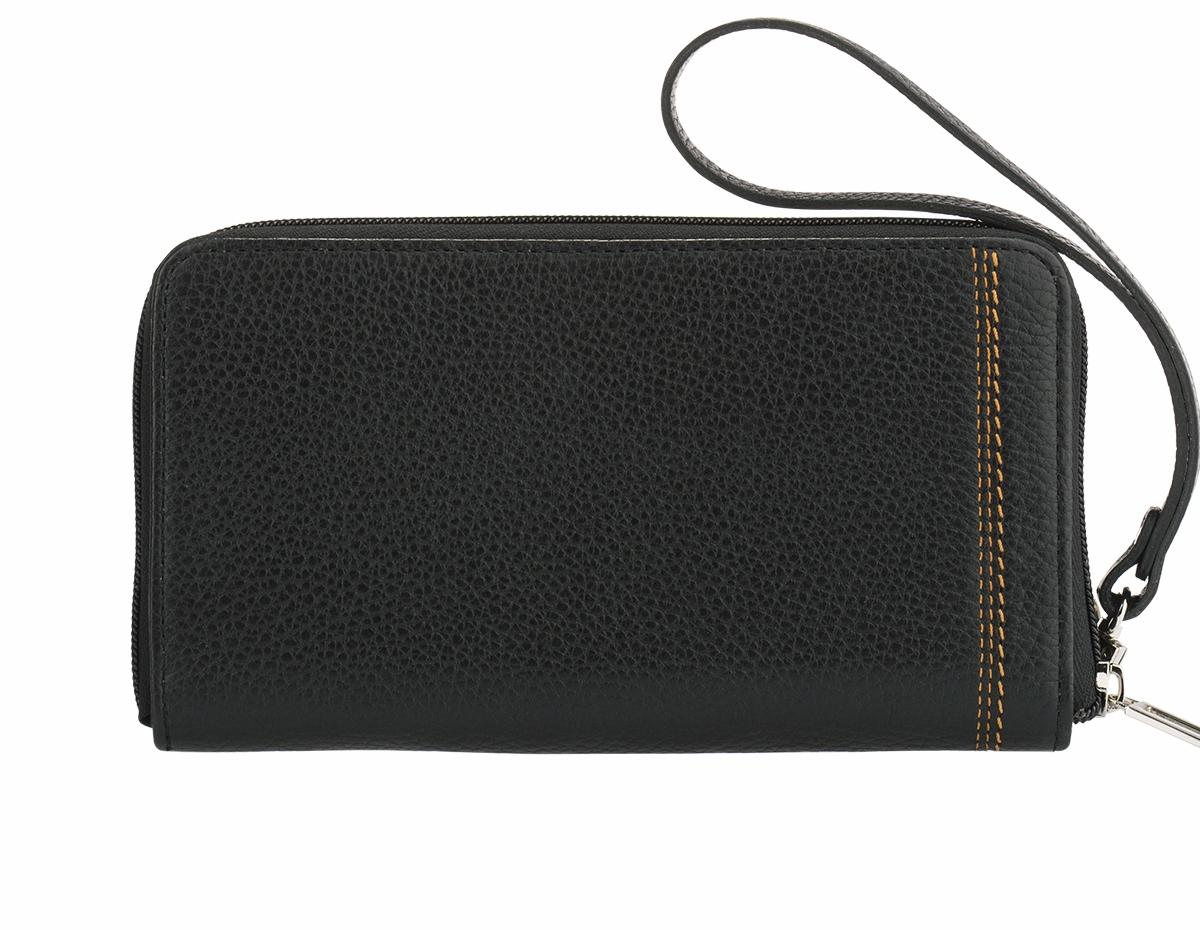 Бизнес-клатч мужской Fabula Brooklyn, цвет: черный. PM.45.BRPM.45.BR черныйСтильный бизнес-клатч Fabula из коллекции Brooklyn изготовлен из натуральной кожи и дополнен контрастной строчкой. Изделие закрывается на застежку-молнию. Внутреннее отделение содержит карман для мелочи на молнии, 2 боковых кармана и 12 кармашков для визиток и пластиковых карт. Бизнес-клатч оснащен удобной съемной ручкой-петелькой. Изделие упаковано вфирменный чехол. Клатч Fabula отлично дополнит образ и подойдет мужчинам, которые ценят функциональность, не забывая про стиль.