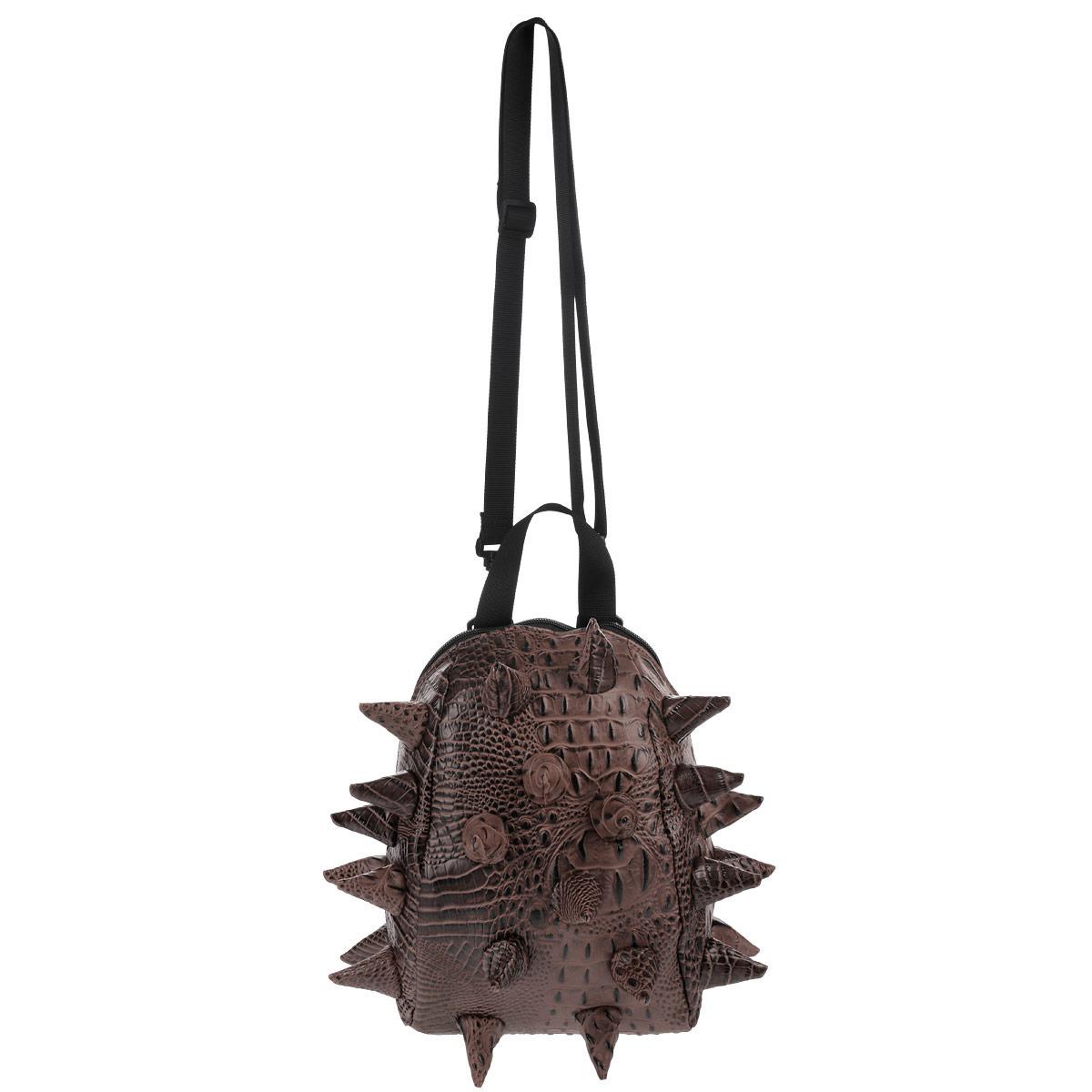 Сумка ланч-бокс MadPax Gator Nibbler, цвет: коричневый, 4 л3965Оригинальная сумка ланч-бокс MadPax Gator Nibbler - это стильный и практичный аксессуар, который поможет сохранить вашу еду и напитки. Верх сумки выполнен из 100% поливинила с тиснением под рептилию, шипы придают изделию неповторимый дизайн. Сумка имеет одно основное отделение, которое закрывается на застежку-молнию. Внутренняя поверхность отделана специальным термоизолирующим материалом, который сохранит напитки прохладными, а домашние сэндвичи теплыми. Специальный кармашек на резинке очень удобен для напитков. Сумка имеет длинный съемный регулируемый ремень, который позволяет носить ее через плечо, и дополнительную ручку для переноски. Сзади расположен кармашек из прозрачного ПВХ для визитки. MadPax - это крутые аксессуары в стиле фанк, которые своим неповторимым дизайном бросают вызов монотонности и скуке. Эти уникальные изделия помогают детям всех возрастов самовыражаться, а их внутренняя структура с отделениями, карманами и застежками-молниями делает их...
