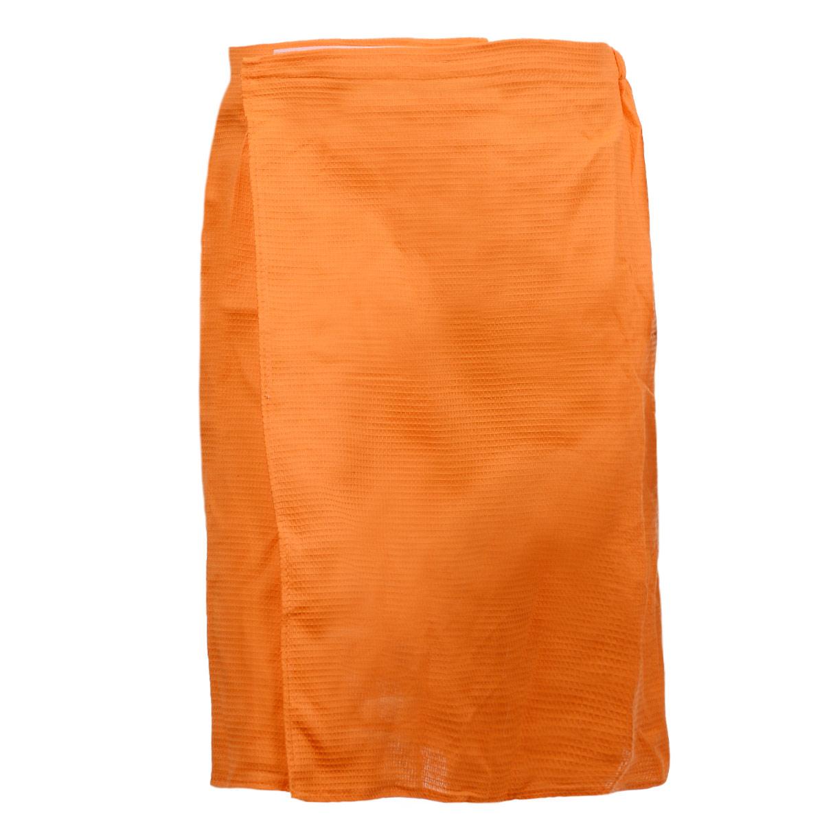 Килт для бани и сауны Банные штучки, мужской, цвет: оранжевый32060 оранжевыйВафельный килт для бани и сауны Банные штучки, выполненный из натурального хлопка, привлечет внимание любителей модных тенденций в банной одежде. Килт - это многофункциональное полотенце специального покроя с резинкой и застежкой. В парилке можно лежать на нем, после душа вытираться, а во время отдыха использовать как удобную накидку. Длина килта: 60 см. Ширина килта: 145 см. Размер: 36-60.