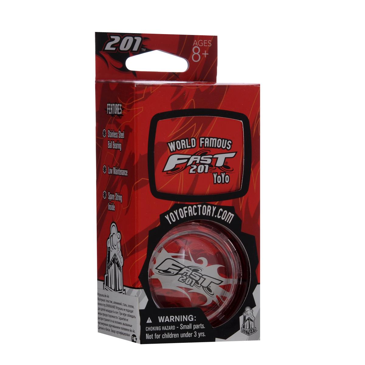 Йо-йо YoYoFactory F.A.S.T. 201, цвет: красныйFAST 201_красныйЙо-йо YoYoFactory F.A.S.T. 201 - это йо-йо с шариковым подшипником из нержавеющей стали и корпусом из прочного поликарбоната. Йо-йо позволяет регулировать его отклик в зависимости от вашего желания и умения делать трюки, подходит как для быстрой, так и для плавной, размеренной игры. На веревке сидит великолепно, а игра с ним одно удовольствие! Йо-йо - это игрушка, состоящая из двух симметричных половинок соединенных осью, к которой прикреплена веревка. Современный йо-йо значительно отличается от тех, к которым многие привыкли. Сейчас йо-йо - это такая же часть молодежной культуры как скейт, ВМХ или сноуборд. Йо-йо популярно во многих странах мира, таких как Россия, США и Япония. Ежегодно во всем мире проходят различные чемпионаты по игре с йо-йо, в том числе и Чемпионат России, в котором собираются лучшие игроки со всей страны. Товар сертифицирован. Рекомендовано детям старше трех лет.