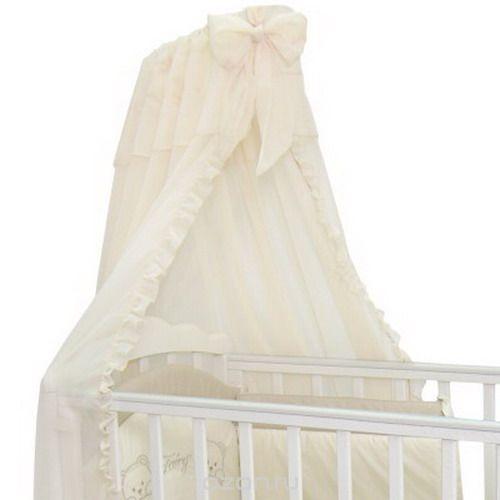 Балдахин в кроватку Fairy, цвет: белый, 300 см х 170 см5690Балдахин Fairy изготовлен из легкой воздушной вуали. Сверху он декорирован изящным бантом. Балдахин украсит кроватку вашего малыша, а также придаст комнате атмосферу тепла, уюта и комфорта. Установленный над детской кроваткой, он защитит ваше чадо от сквозняка при открытой форточке. Размер балдахина: 300 см х 170 см.