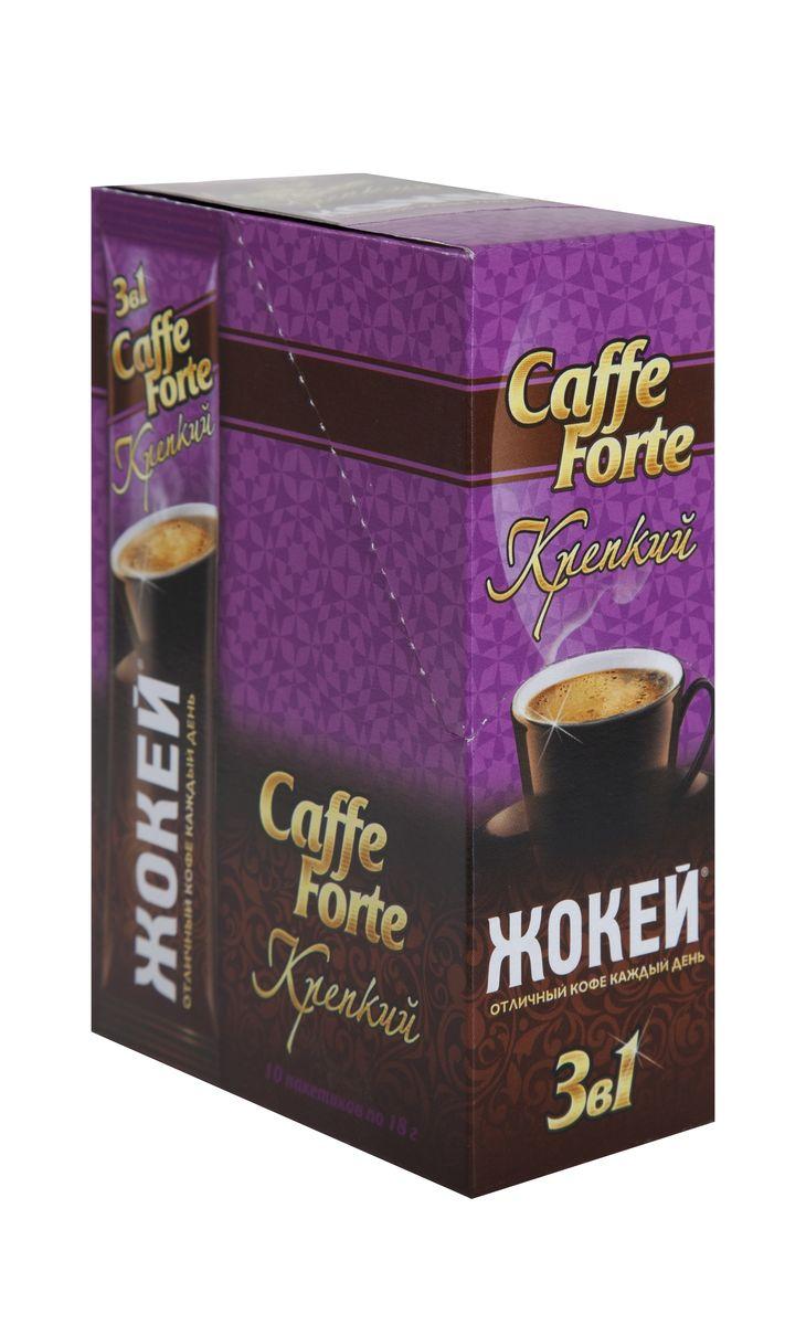Жокей Caffe Forte растворимый кофейный напиток со вкусом сливок, 10 шт