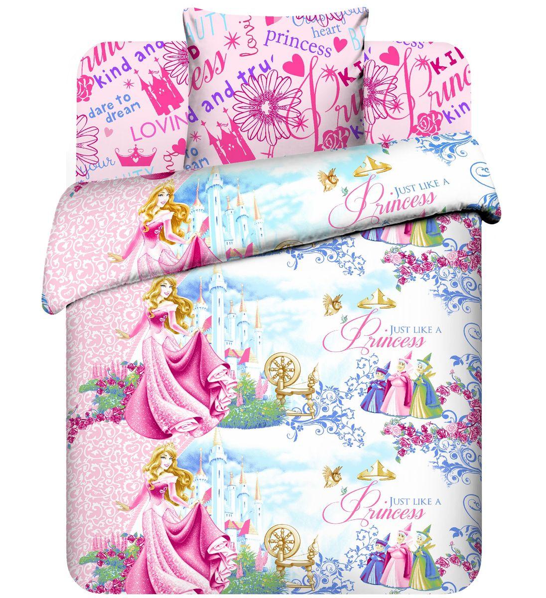 Василек Детское постельное белье Disney: Принцесса Аврора (1,5-спальный КПБ, бязь, наволочка 70х70)