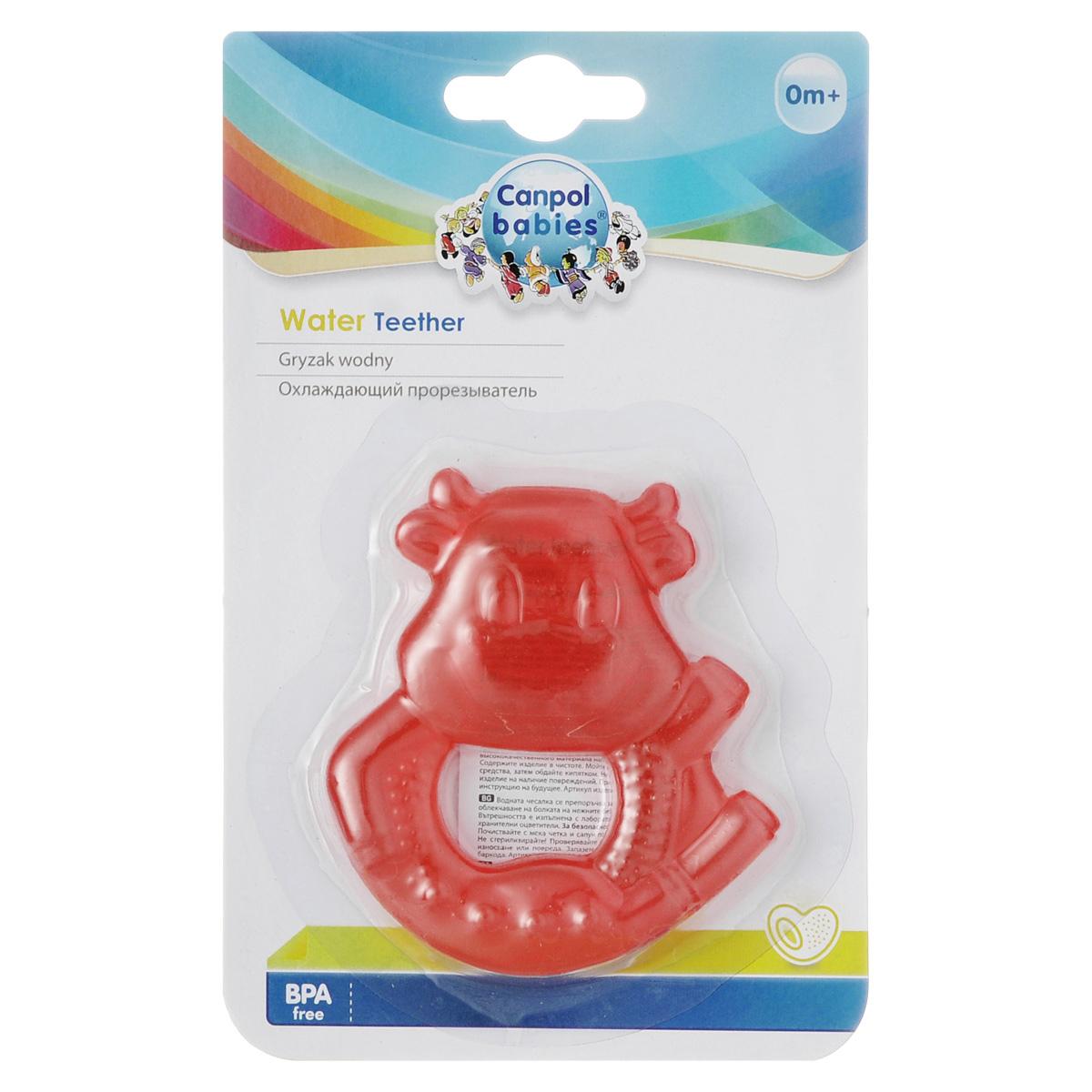 Прорезыватель Canpol Babies Коровка, охлаждающий, цвет: красный
