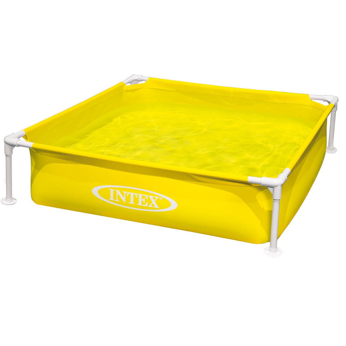 Бассейн надувной Intex, каркасный, цвет: желтый, 122 см х 30 смint57171NP_желтыйДетский каркасный бассейн Intex будет просто незаменим в летний жаркий день дома или на даче. Бассейн квадратной формы выполнен из прочного винила, дополнительную прочность обеспечивает стальной каркас. Такая конструкция позволяет бассейну выдерживать большие нагрузки при одновременном купании в нем нескольких детей. Дополнительную устойчивость бассейну придают четыре ножки. Яркий бассейн непременно станет для вас не только незаменимым атрибутом летнего отдыха, но и дополнением ландшафтного дизайна участка. В комплект с бассейном входит специальная заплатка для ремонта в случае прокола. Гарантия производителя: 30 дней.