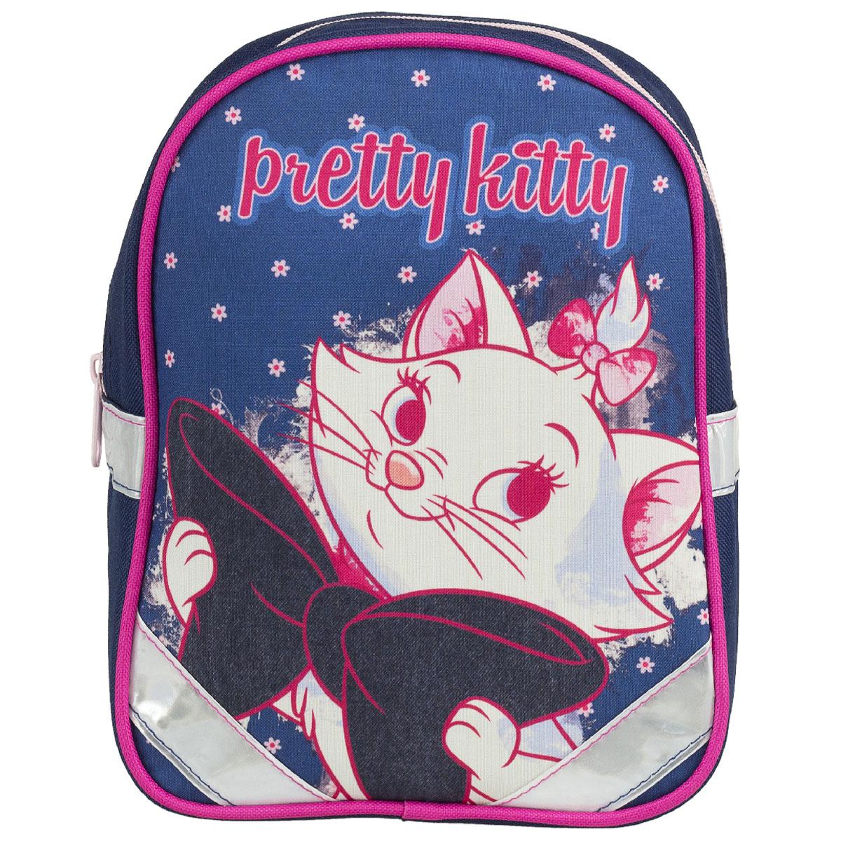 Рюкзак детский Kinderline Marie Cat, цвет: синий, белый, розовыйMCCB-UT1-531Рюкзак детский Kinderline Marie Cat выполнен из износоустойчивых материалов с водонепроницаемой основой, декорирован ярким рисунком. Рюкзак имеет одно вместительное основное отделение, закрывающееся на молнию. Ранец оснащен светоотражателями, удобной ручкой для переноски и двумя широкими лямками, регулируемой длины. С модным рюкзаком Marie Cat ваша малышка будет звездой! Стильный и продуманный до мелочей рюкзак позаботится о том, чтобы прогулки доставляли ребенку только удовольствие.