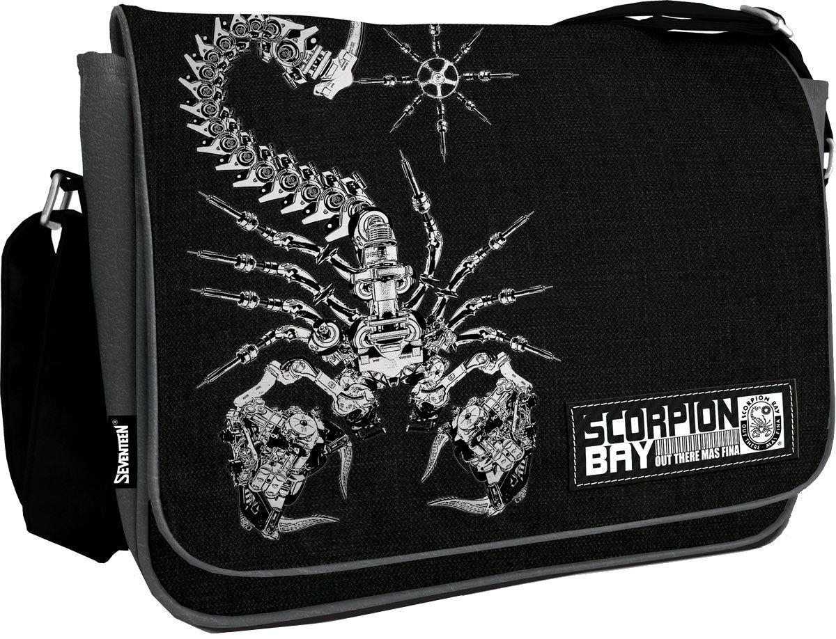 Сумка на плечо Scorpion Bay Размер 35 х 25 х 11 смSCCB-UT1-9532Сумка на плечо Scorpion Bay прекрасно подойдет для учебы, занятий спортом и повседневных дел. Стильная, легкая и удобная сумка с ярким принтом станет для Вас незаменимым аксессуаром. Вместительное внутреннее отделение закрывается на клапан с кнопками, в него поместятся все необходимые школьные принадлежности или спортивная форма, также имеется дополнительный карман на молнии, куда можно разместить предметы небольшого размера. Плотная и широкая лямка свободно регулируется по длине, что позволяет носить сумку школьникам разного возраста. Спешите порадовать себя действительно полезной покупкой!