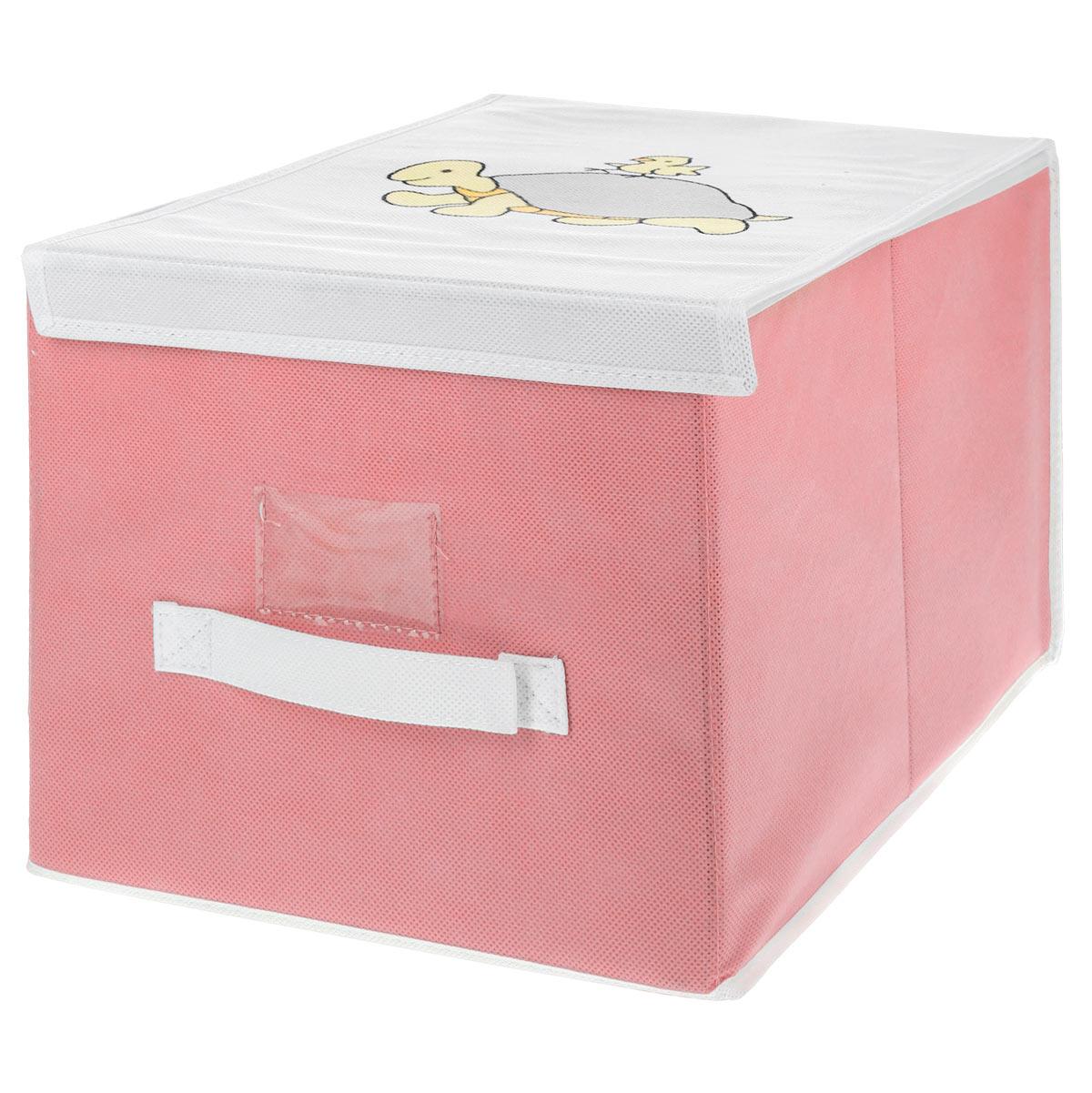 Чехол для хранения Voila Baby, цвет: розовый, 30 см х 40 см х 25 смCOVLSCBY02 розовыйЧехол Voila Baby выполнен из дышащего нетканого материала (полипропилен), безопасного в использовании. Изделие предназначено для хранения вещей. Он защитит вещи от повреждений, пыли, влаги и загрязнений во время хранения и транспортировки. Чехол идеально подходит для хранения детских вещей и игрушек. Жесткий каркас из плотного толстого картона, обеспечивает устойчивость конструкции. Изделие оформлено красочным изображением. Закрывается на липучки.