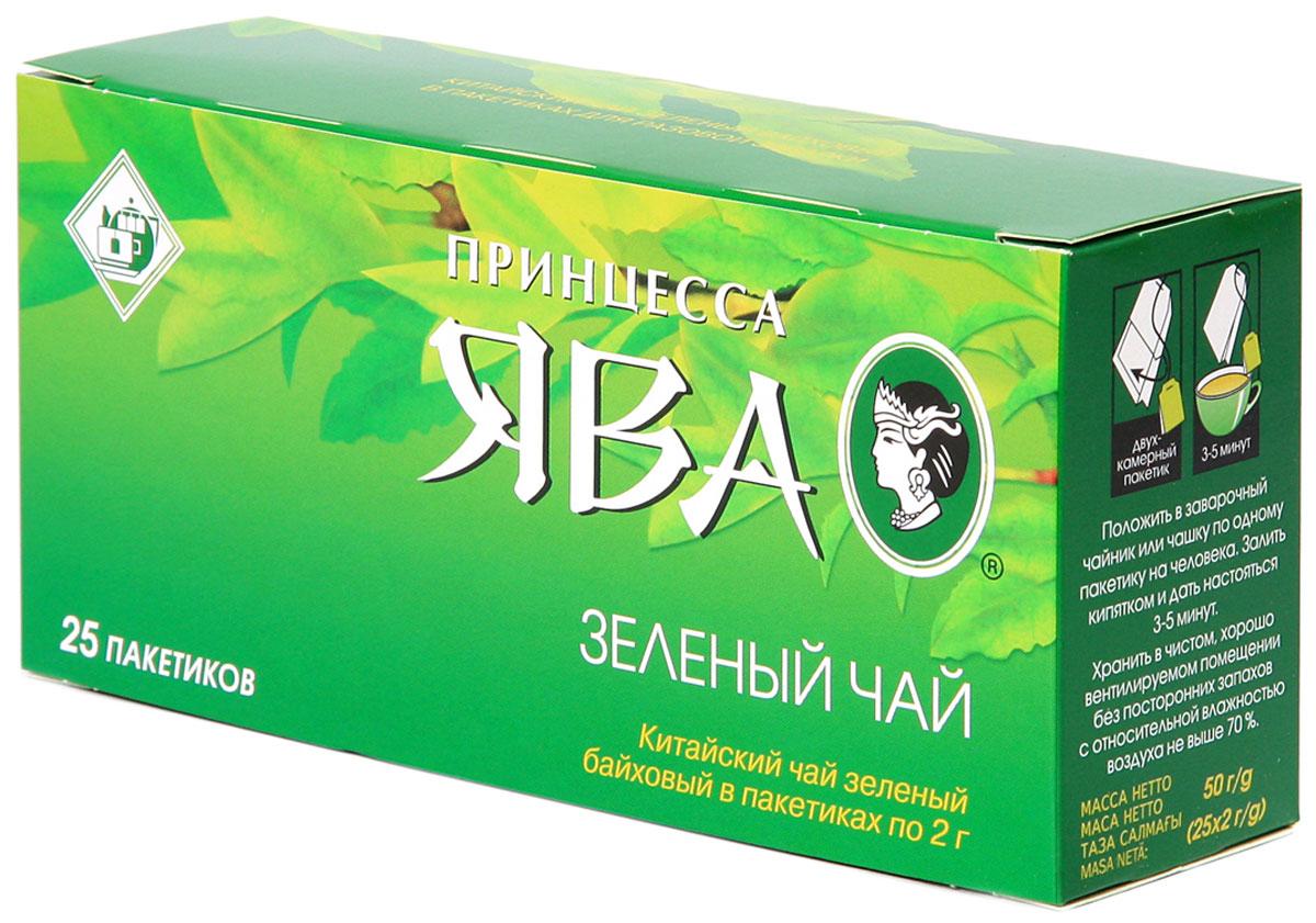 Принцесса Ява зеленый чай в пакетиках, 25 шт
